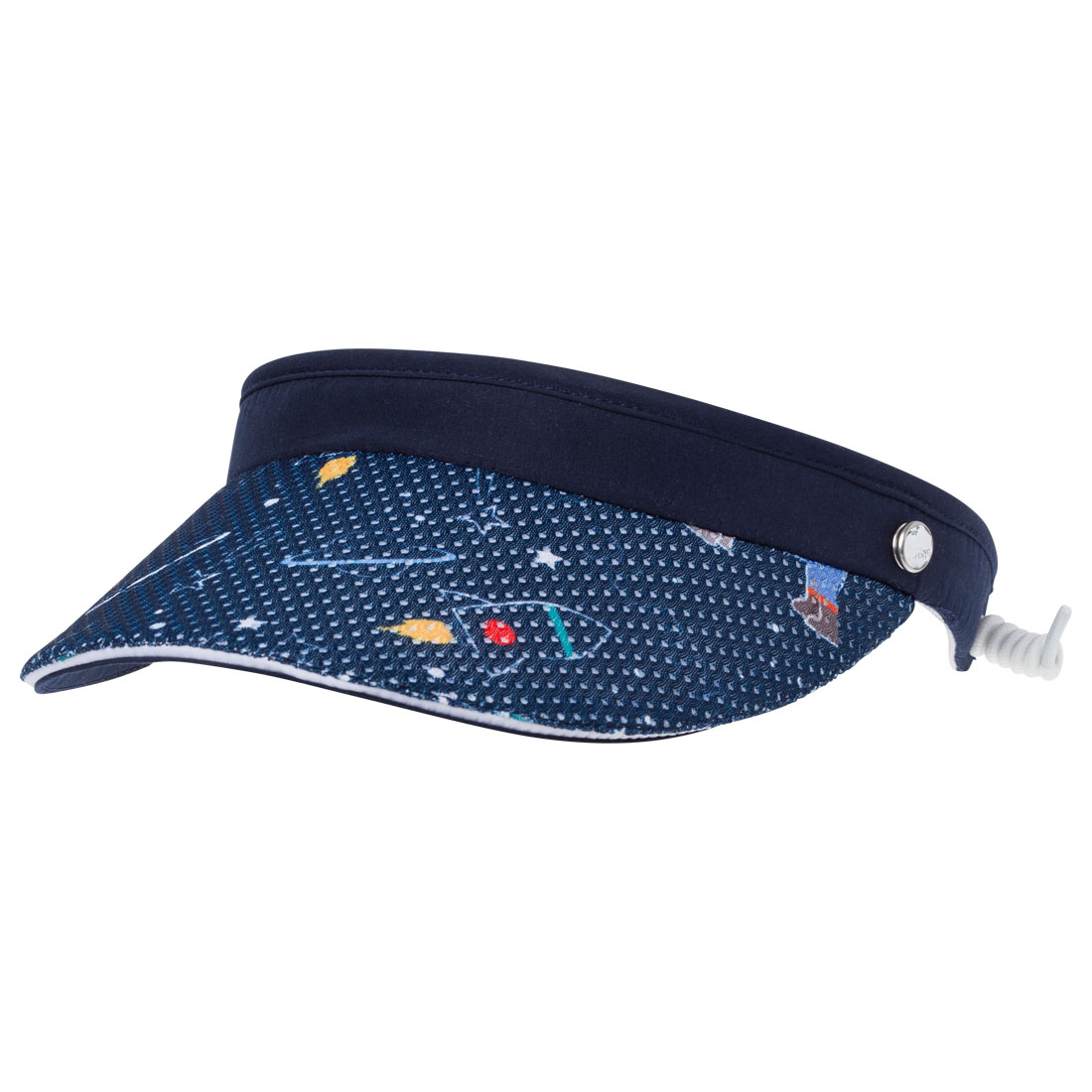 Damen Visor mit Allovermuster