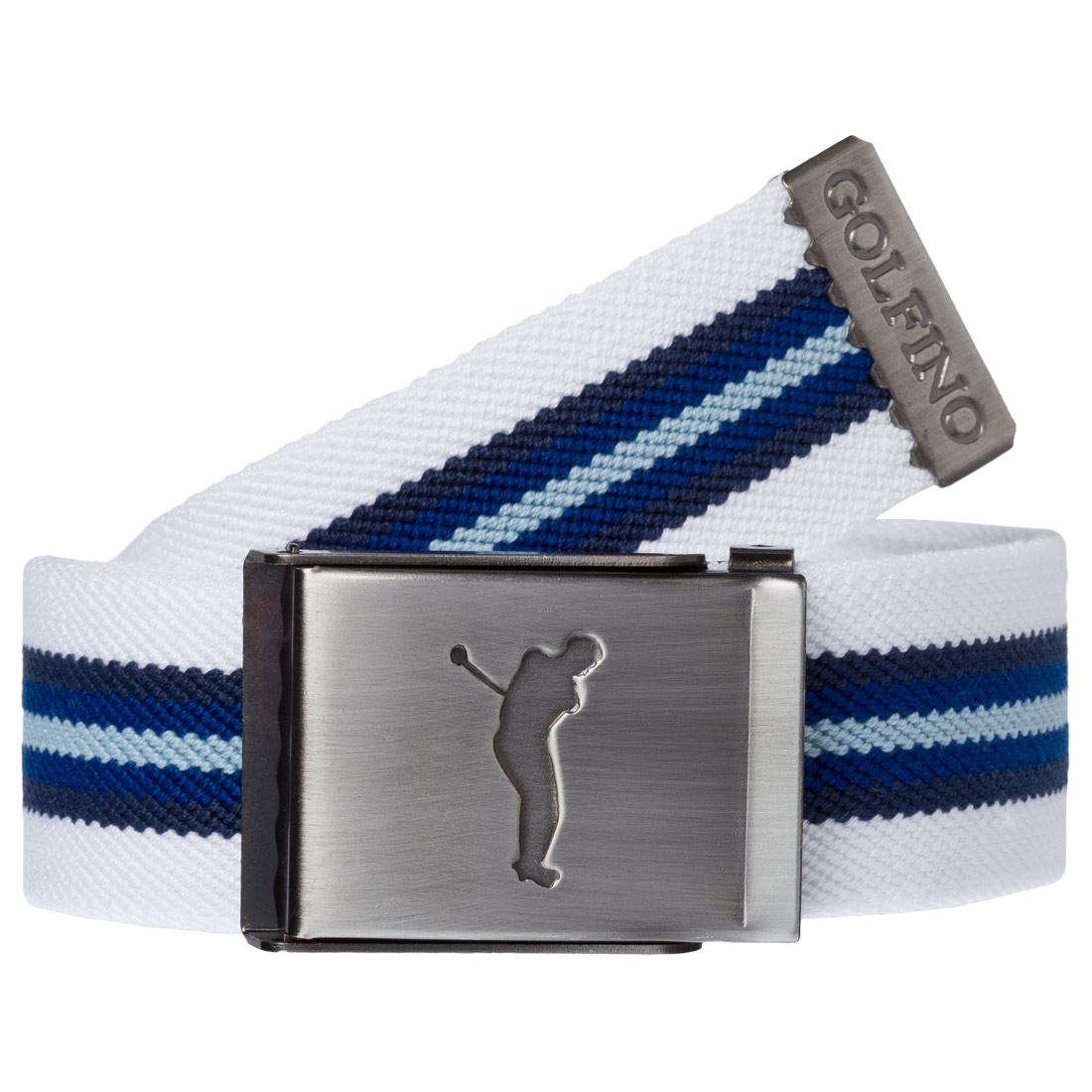 Herren Golfgürtel mit modischem Streifen und nickelfreier Klemm-Schnalle