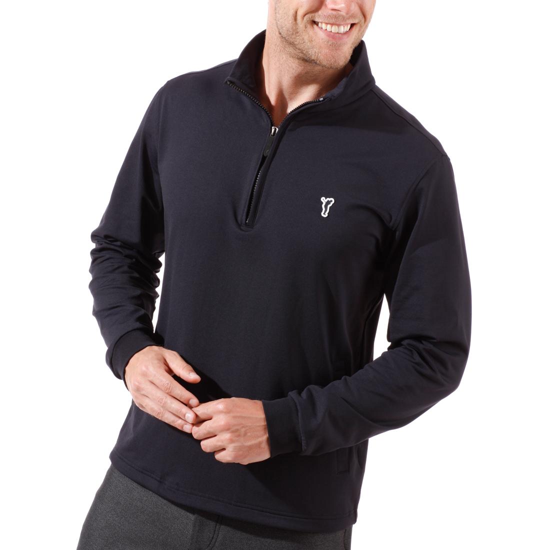 Techno -Stretch Fleece Pullover mit Reißverschluss