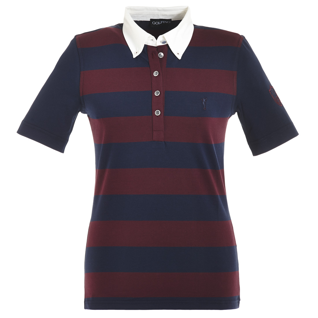 Gestreiftes Kurzarm Poloshirt