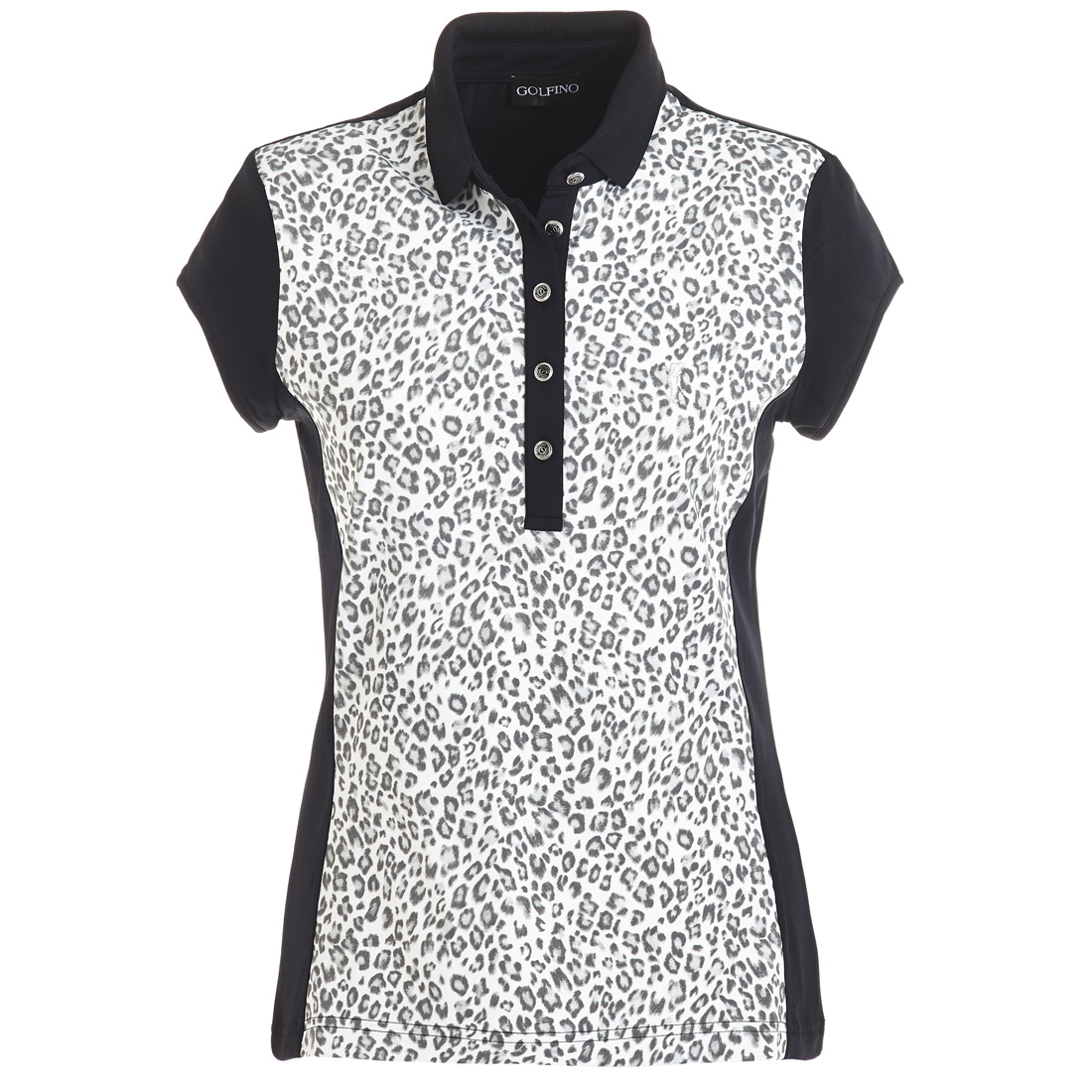 Ärmelloses Poloshirt mit Leoparden Print