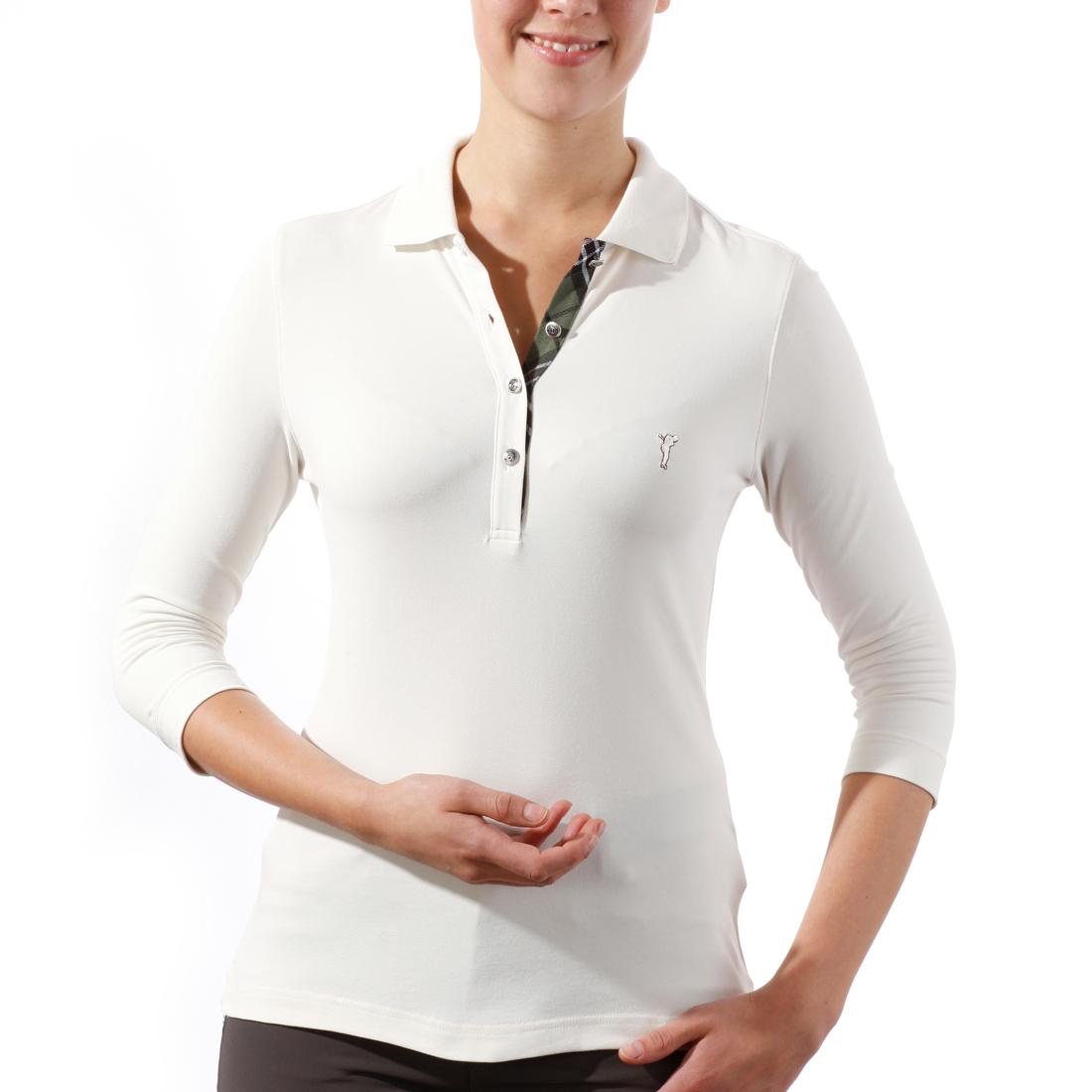 3/4-Arm Poloshirt mit UV-Schutz