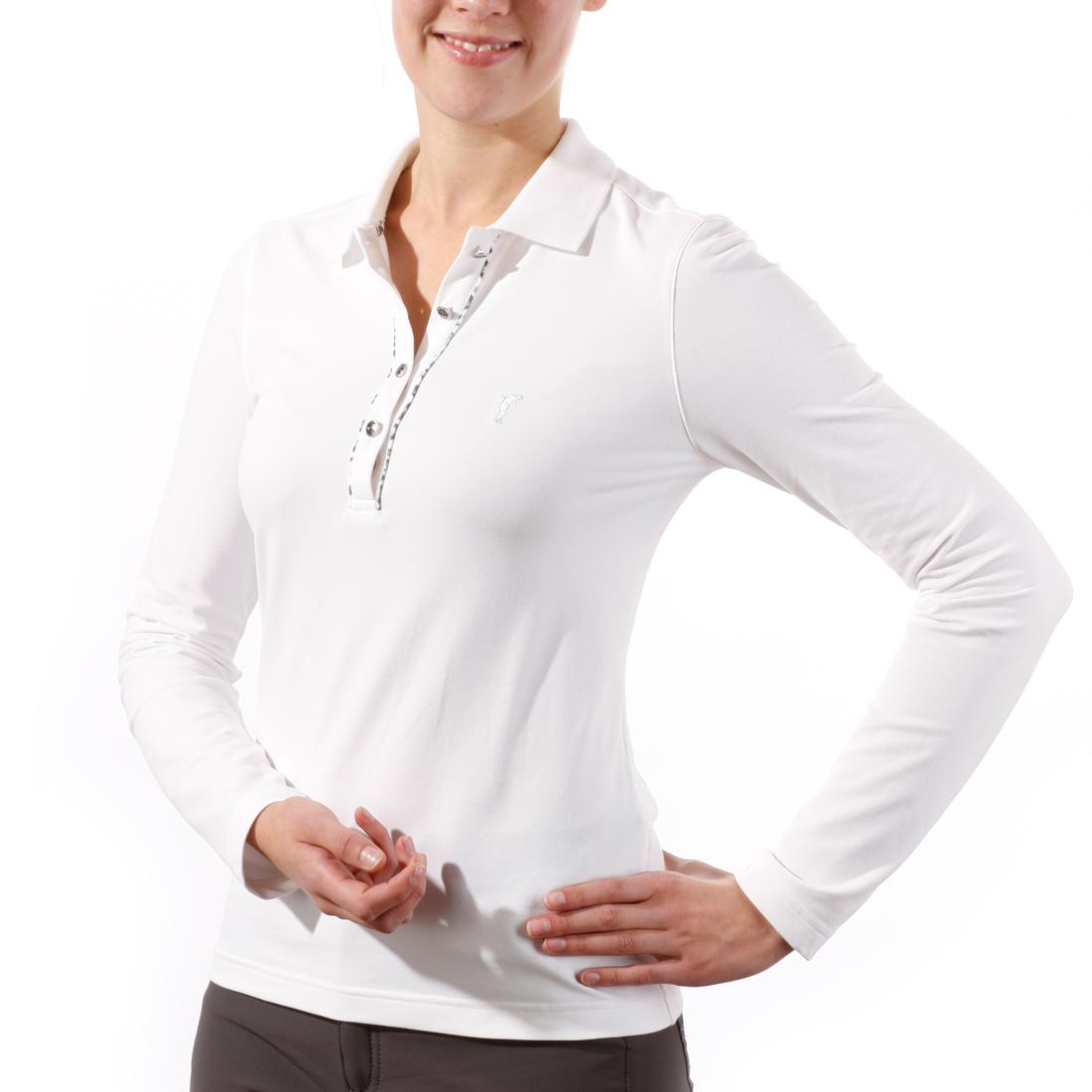 Langarm Poloshirt mit UV-Schutz