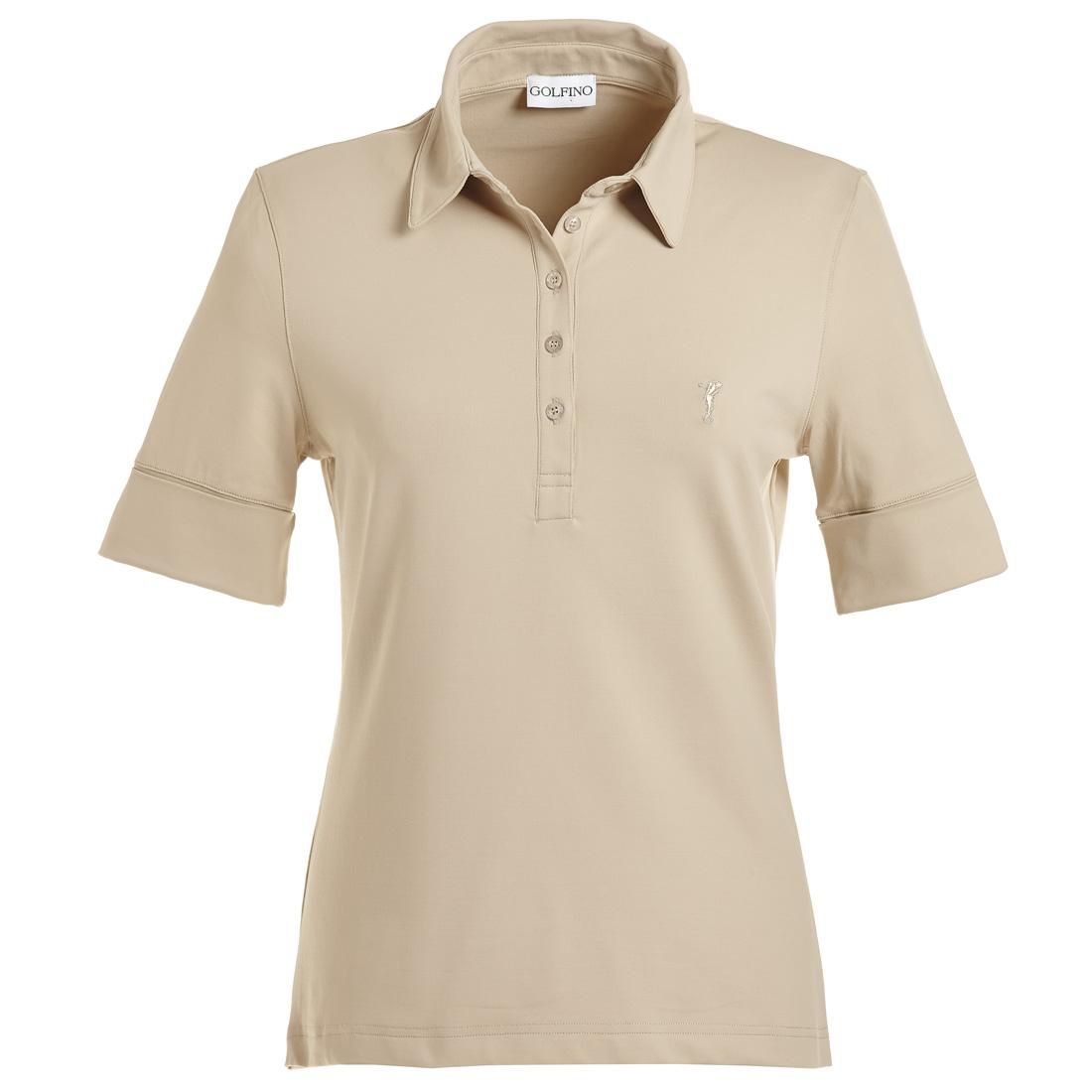 Dry Comfort Jersey Poloshirt mit gekrämpelten Ärmeln