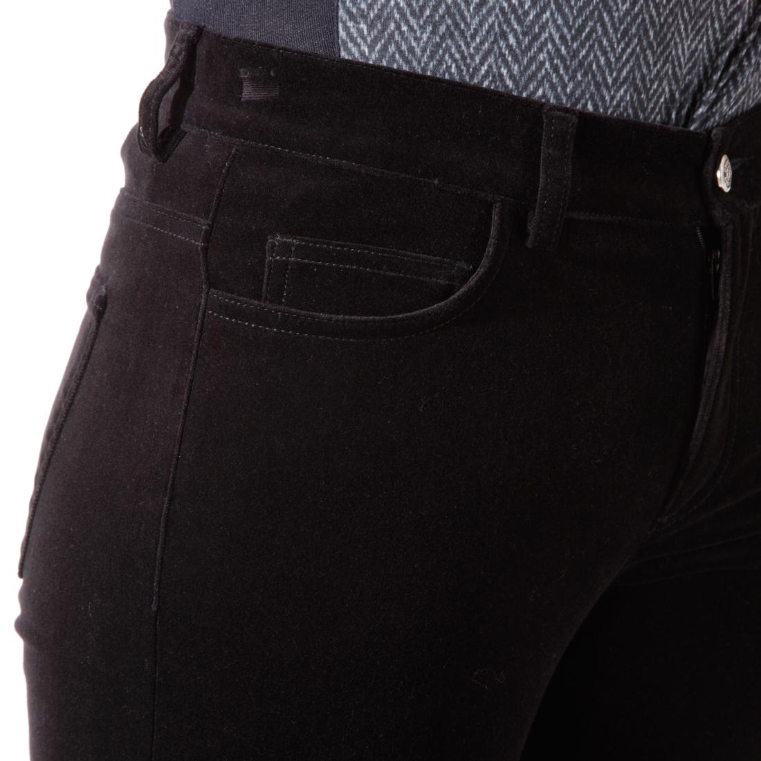 Weiche Samt Stretch-Hose