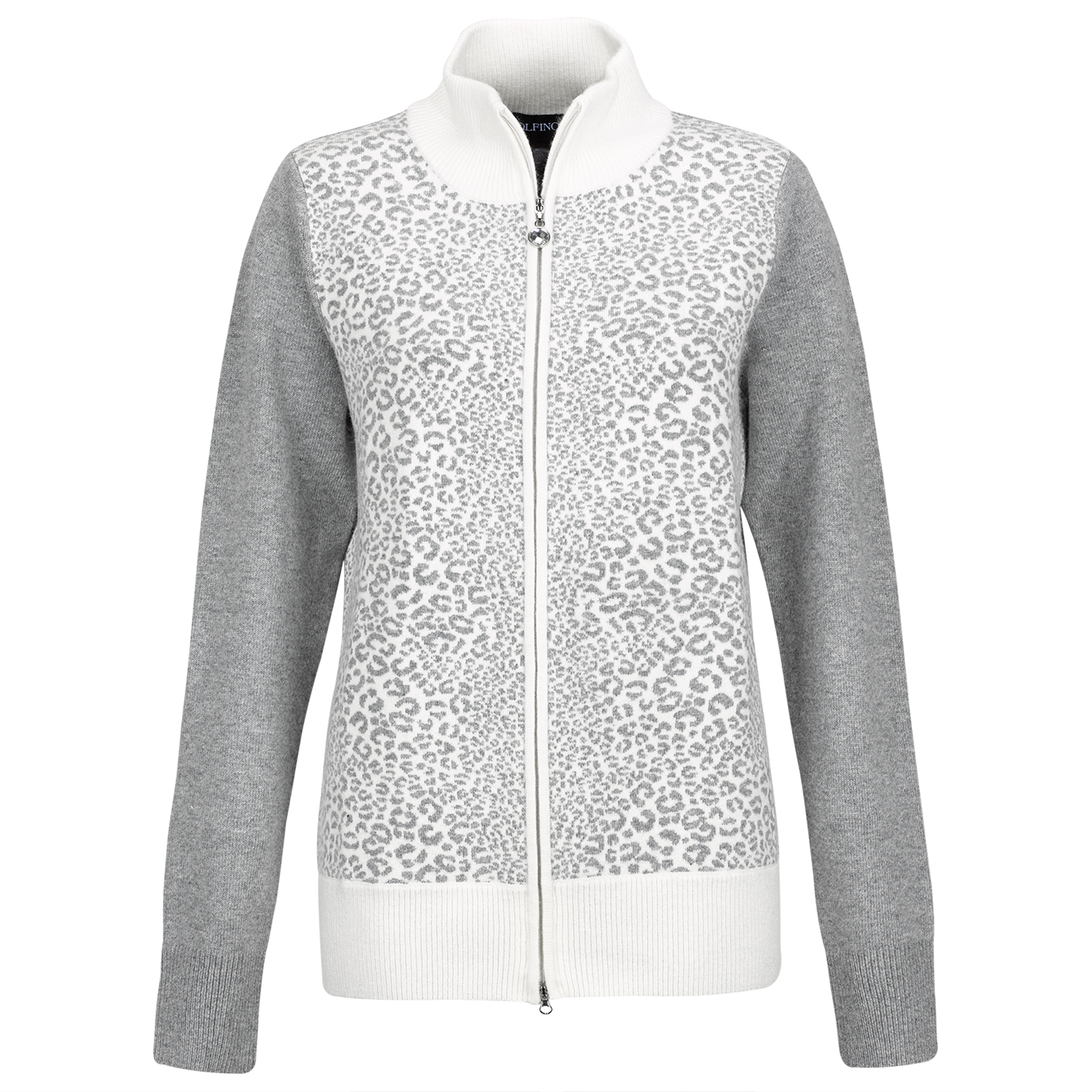 Damen Cold Protection Leopard Cardigan aus weicher Angora-Blend