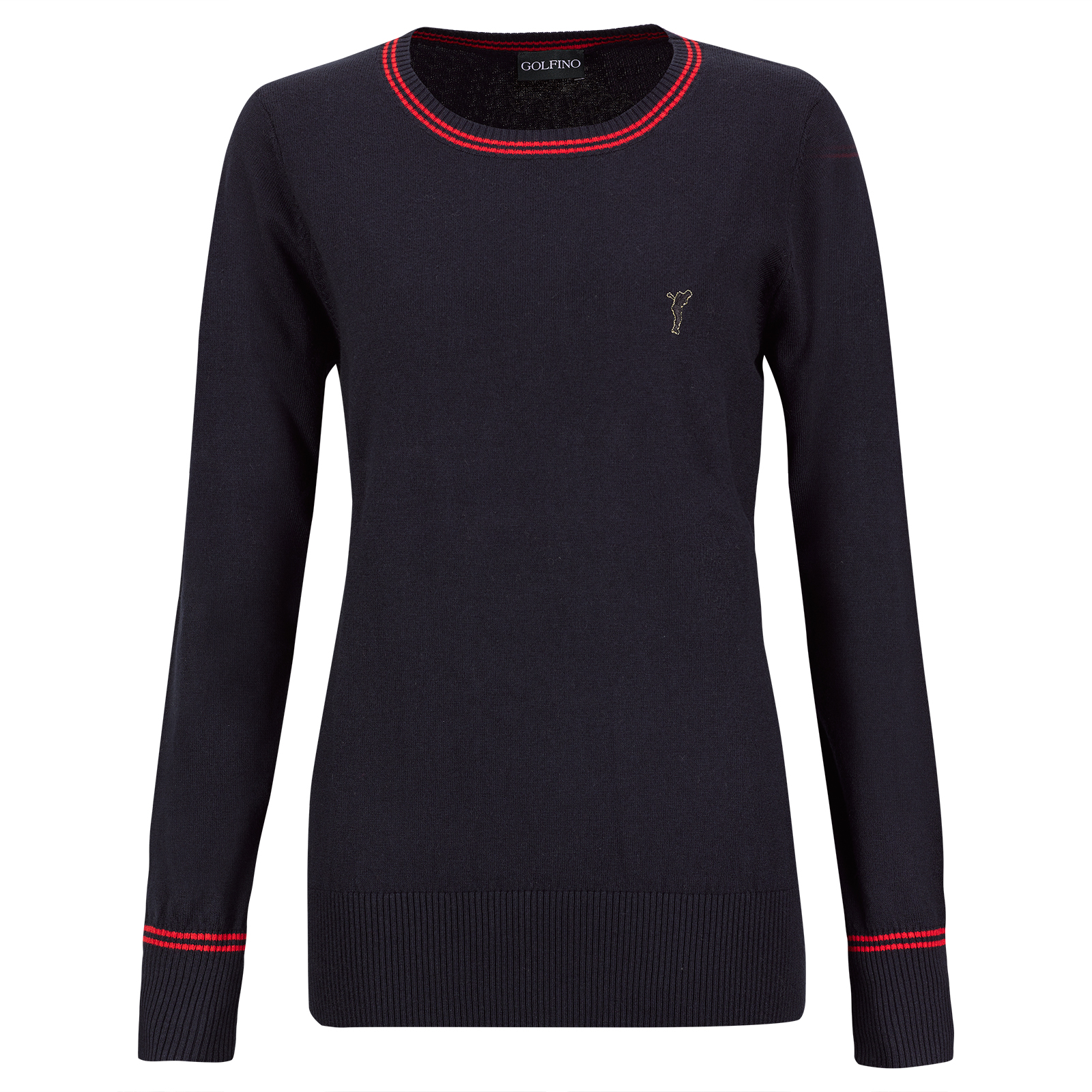 Ladies' crew neck pullover made from finest cotton/cashmere