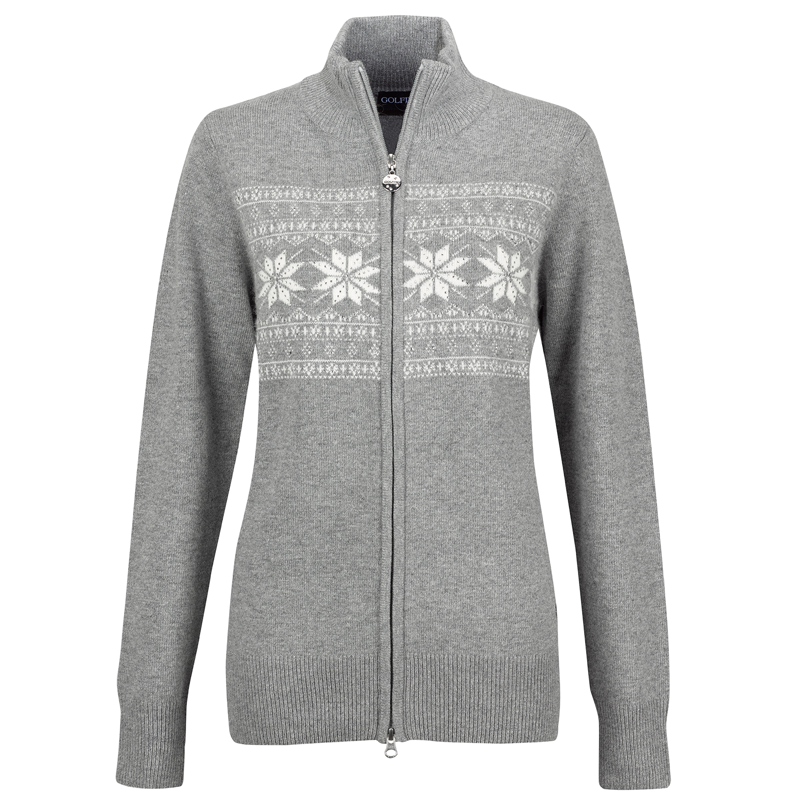 Ladies' luxury winter cardigan with Angora and crystals
