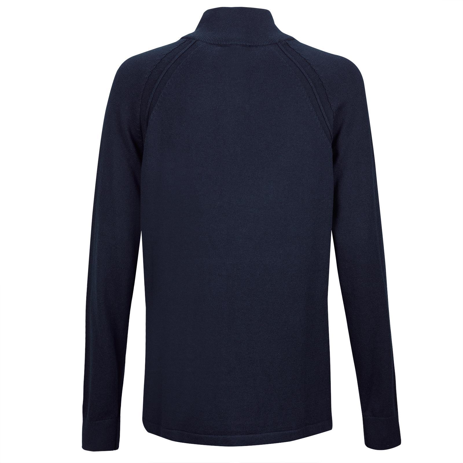633cc9aa04b GOLFINO Ladies  cotton   cashmir pullover with short zip shop online ...