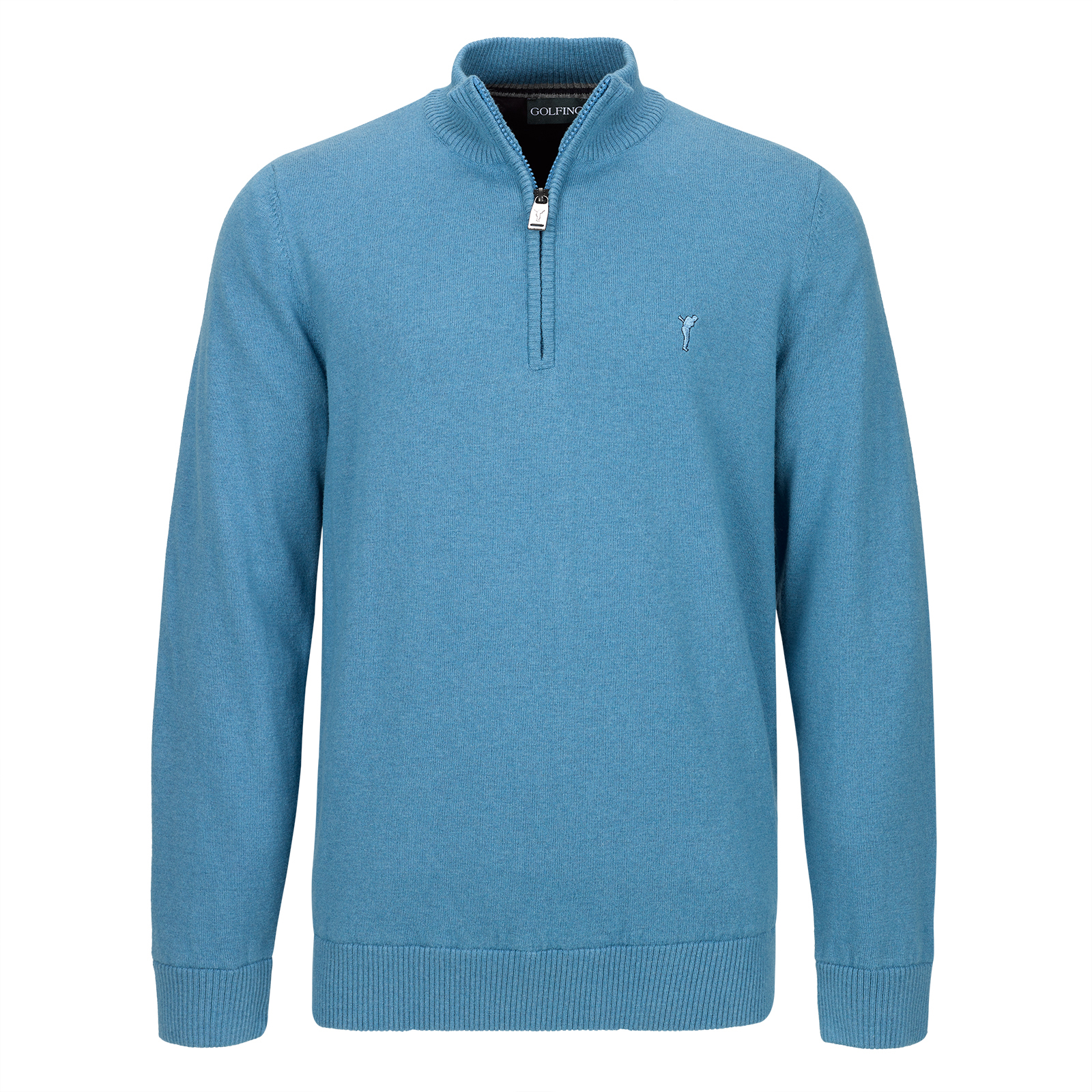 Men's windstopper golf troyer from exclusive Merino blend in regular fit