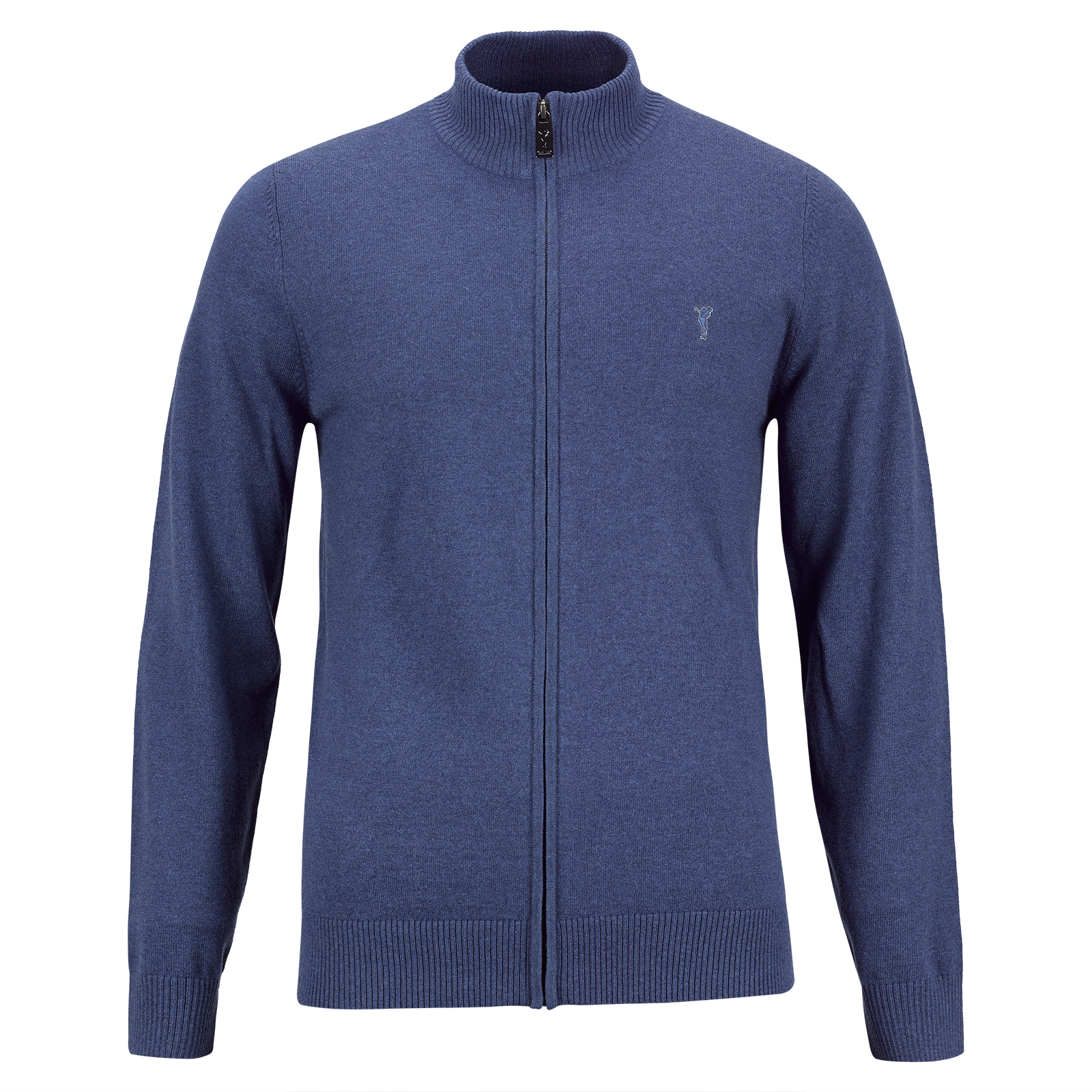 Herren Merino-Blend Golf-Strickjacke in Regular Fit