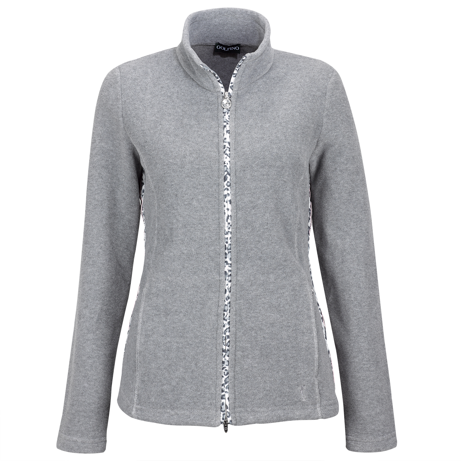 Damen Fleece Golfjacke Cold Protection im Leoparden Look
