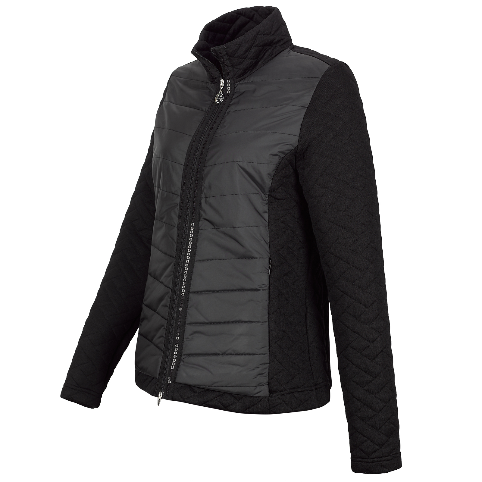 Damen Cold Protection Golfjacke mit Pailletten-Besatz