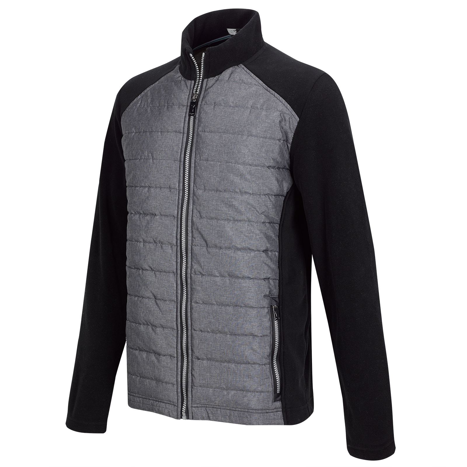 Micro Fleece Herren Midlayer Golfjacke Cold Protection mit Steppelementen