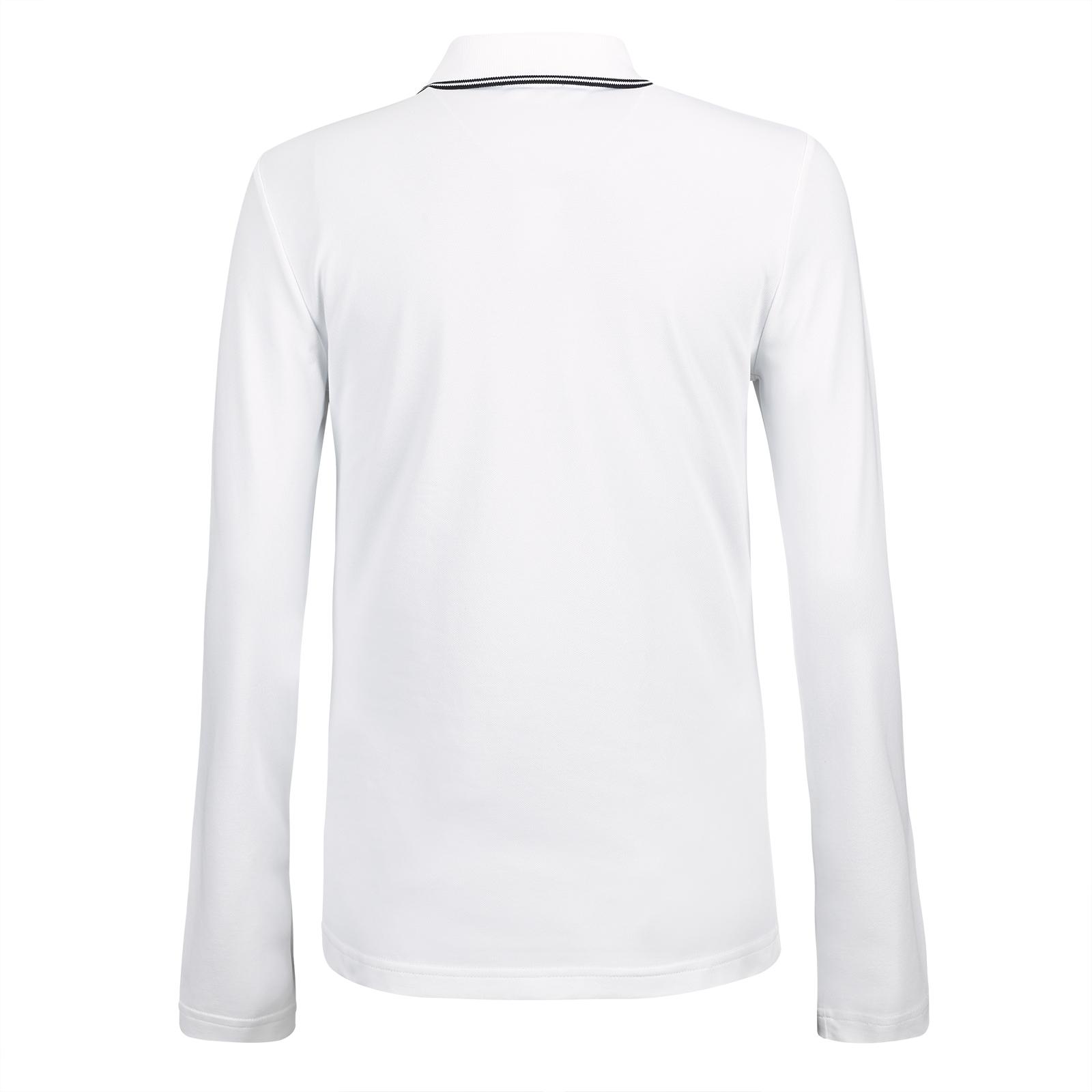Damen langarm Basic Golfpoloshirt mit UV-Schutz Funktion