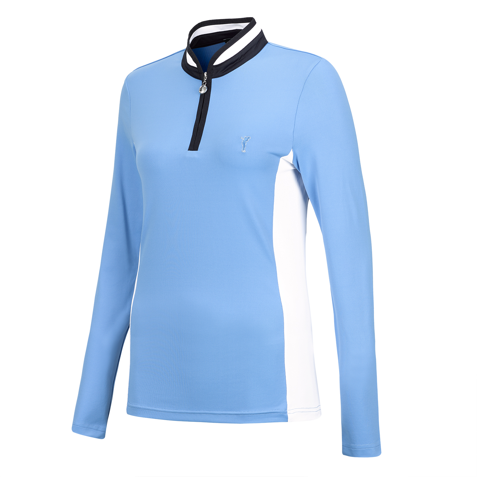 Langarm Lycra® Damen Golf-Troyer mit Moisture Management im Pro-Look