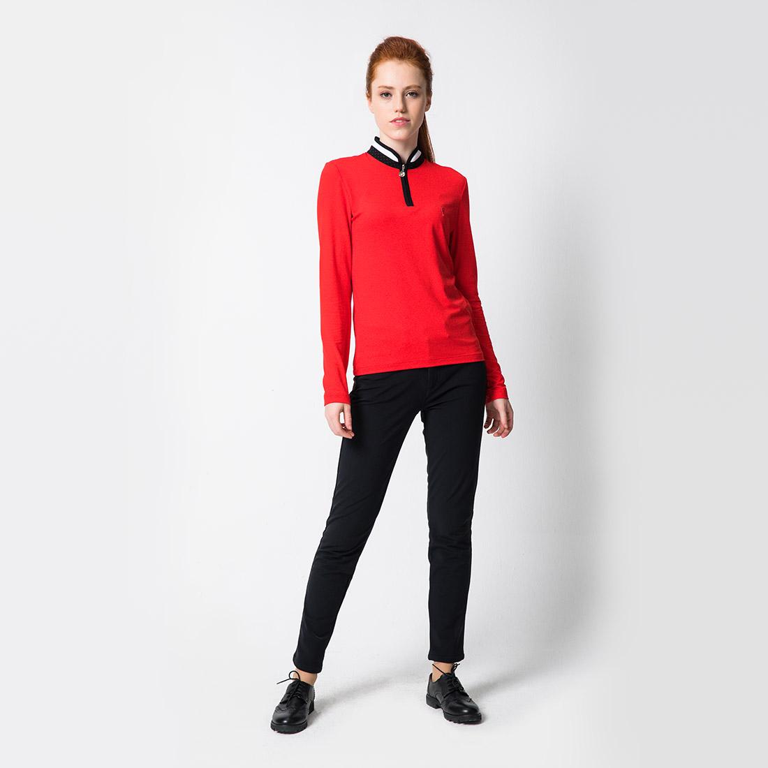 Damen Langarm Performance Golftroyer Dry Comfort in Slim Fit