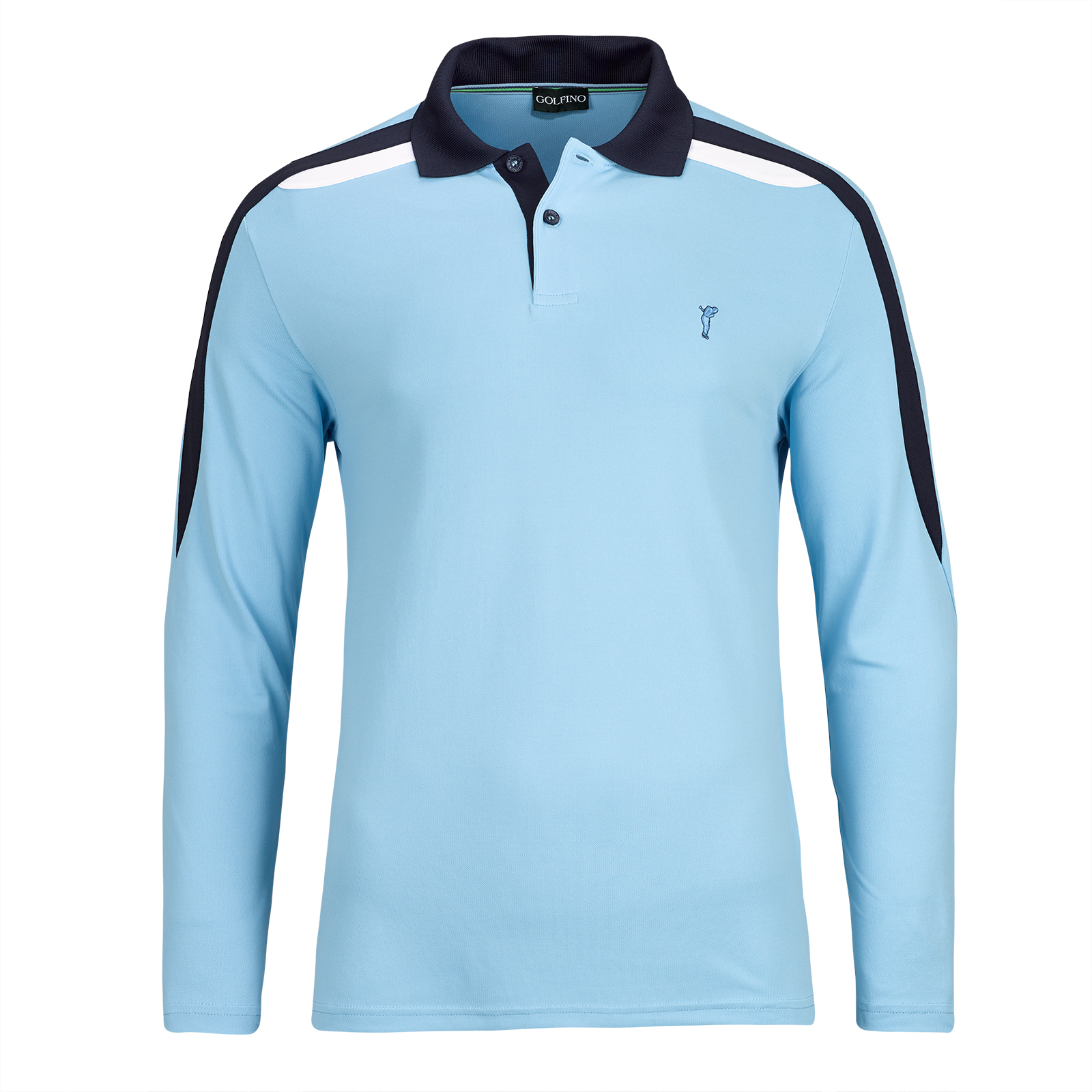 Herren Langarm Performance Golfpolo mit Quick Dry Funktion