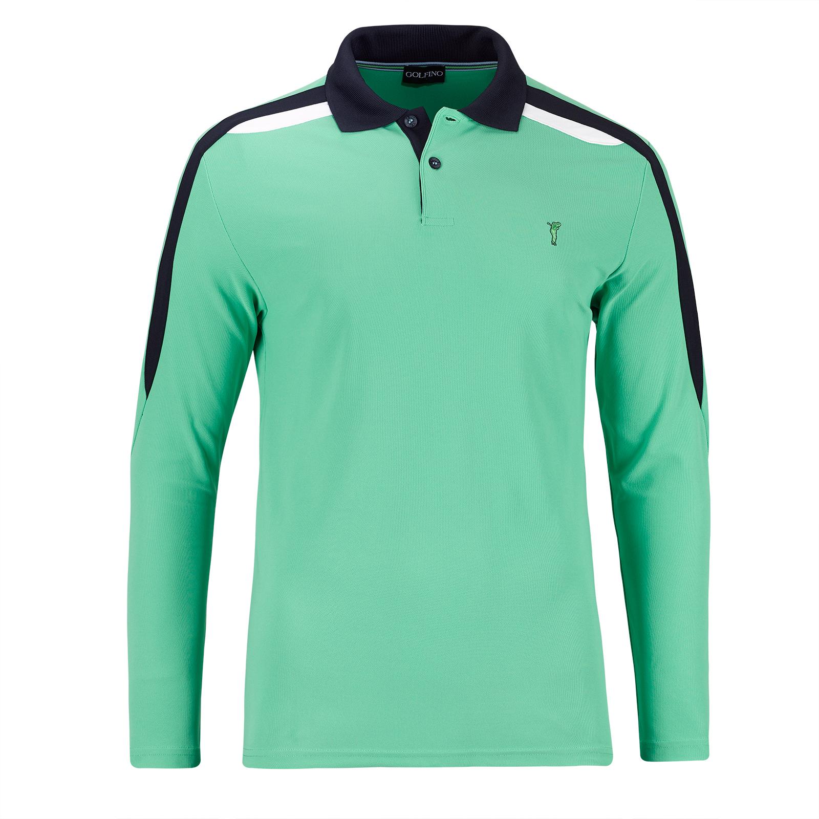 Herren Langarm Performance Golfpolo mit Quick Dry Funktion