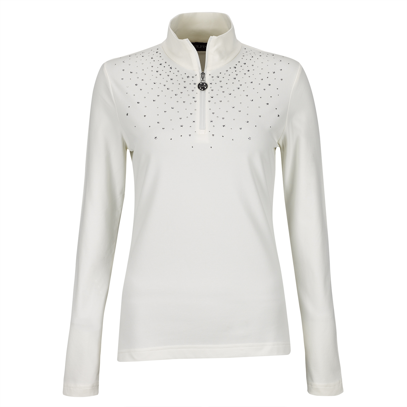Ladies Winter Power stretch underlayer with rhinestones and Sun Protection