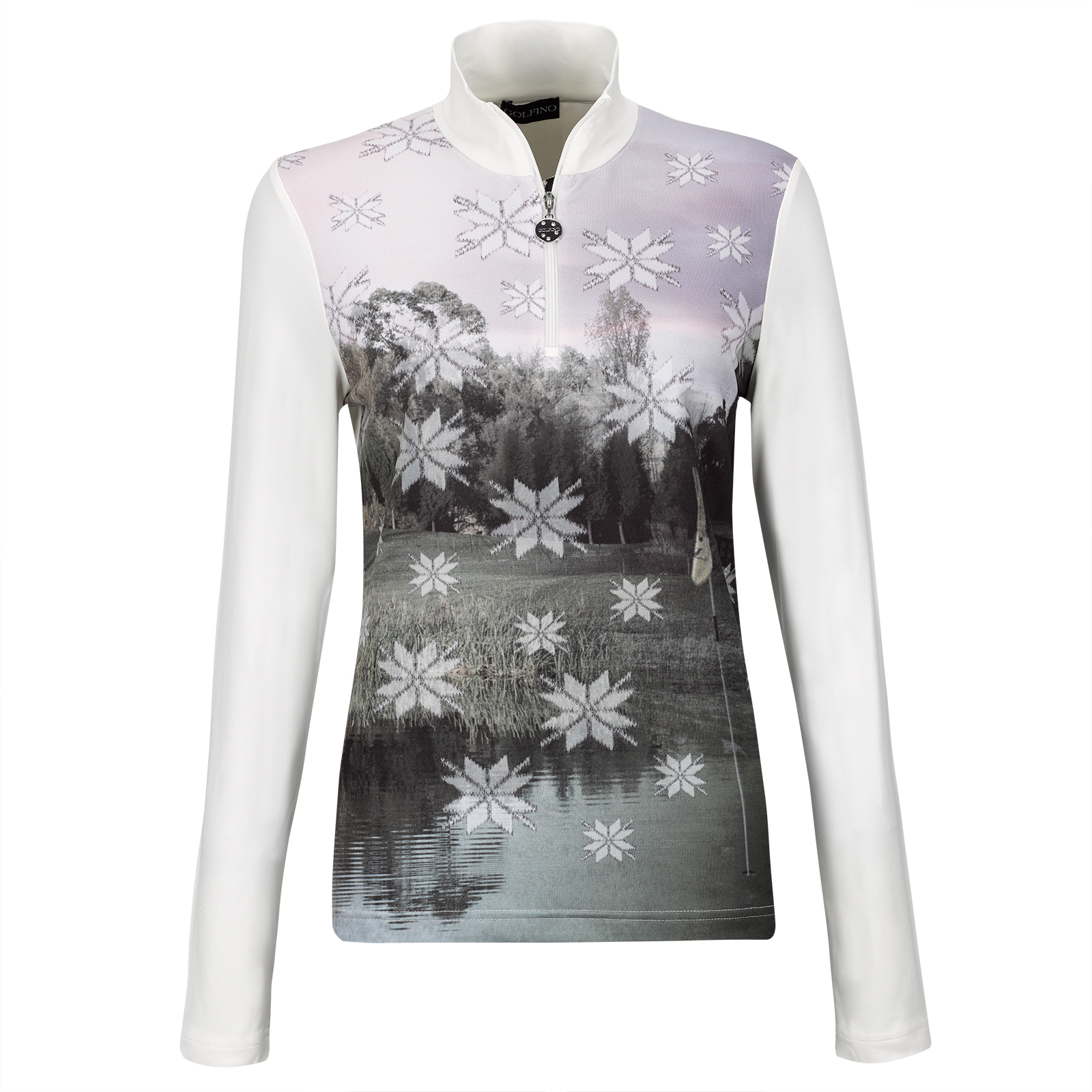 Damen Winter Power Base-Layer mit Allover Print und Moisture Management