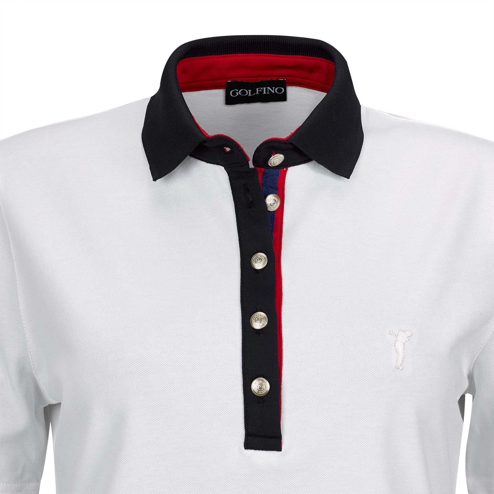 Kurzarm Damen Baumwoll-Golfpolo aus exklusivem Stretchmaterial in Slim Fit