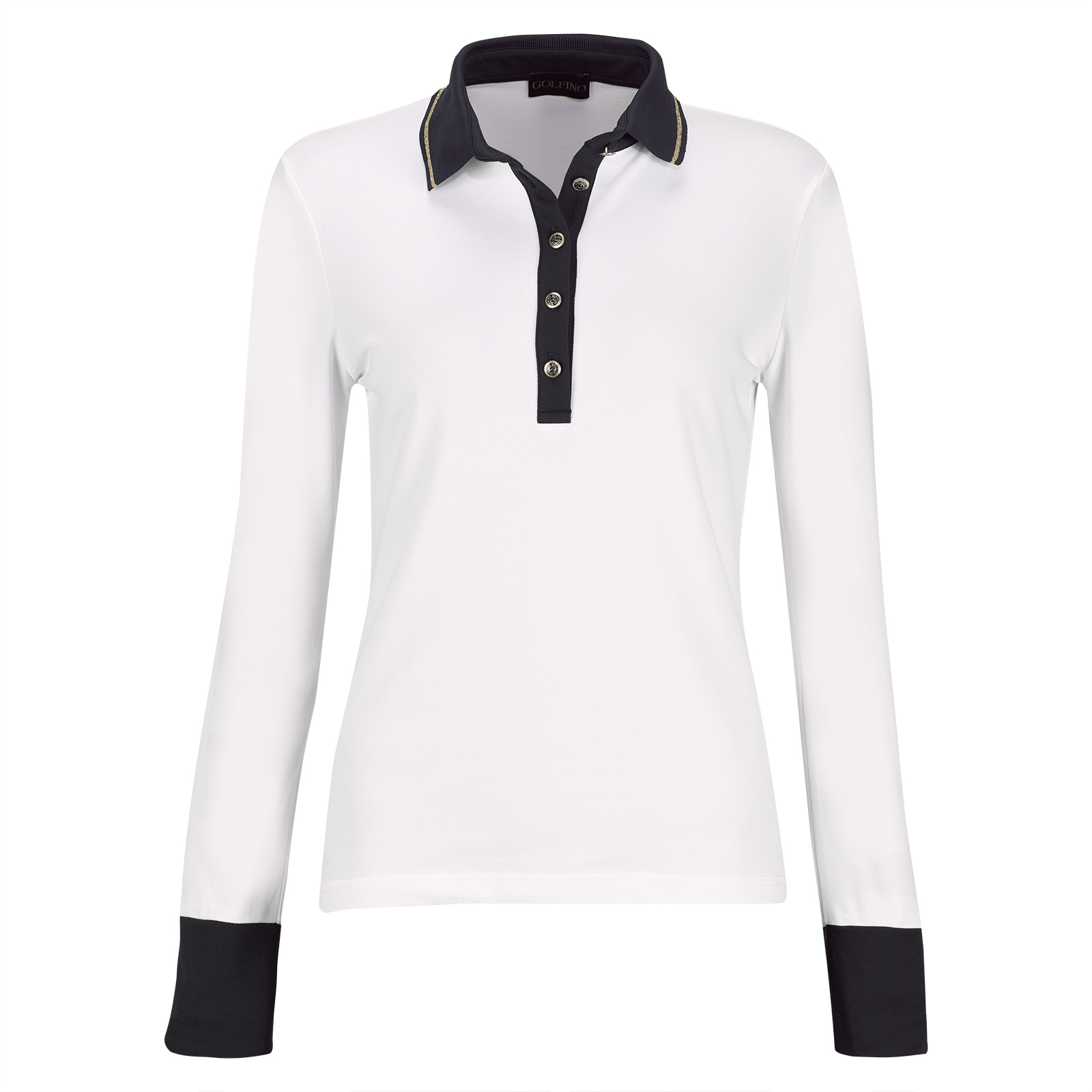 Premium casual long-sleeve ladies' polo with Sun Protection