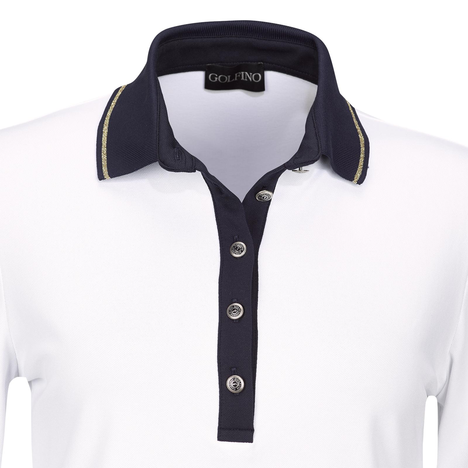 Premium Casual Langarm Damen Golfpolo mit Sun Protection