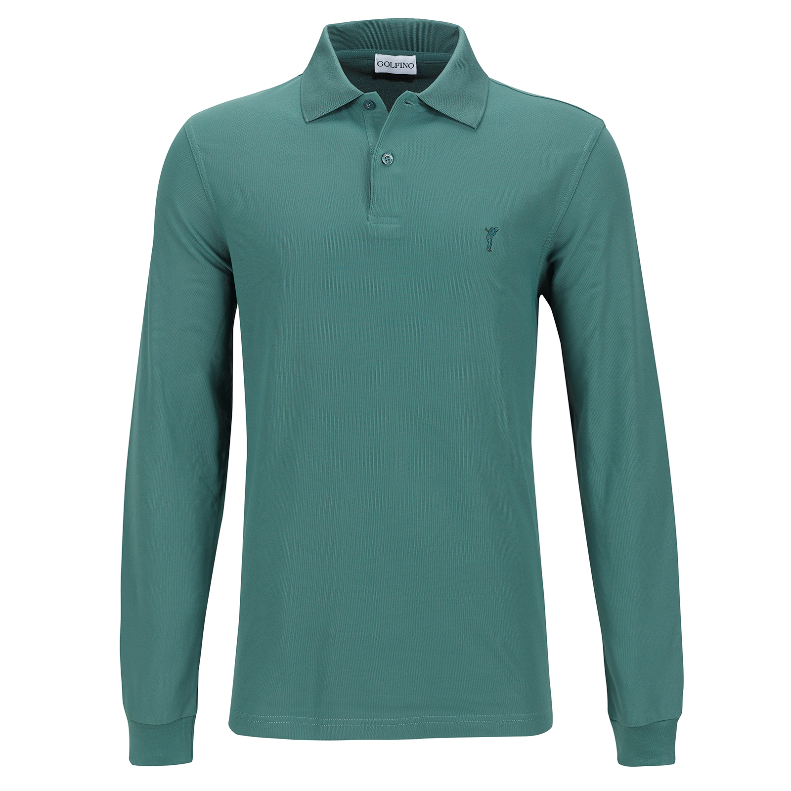 Herren Langarm Basic-Golfpolo mit Moisture Management in Regular Fit