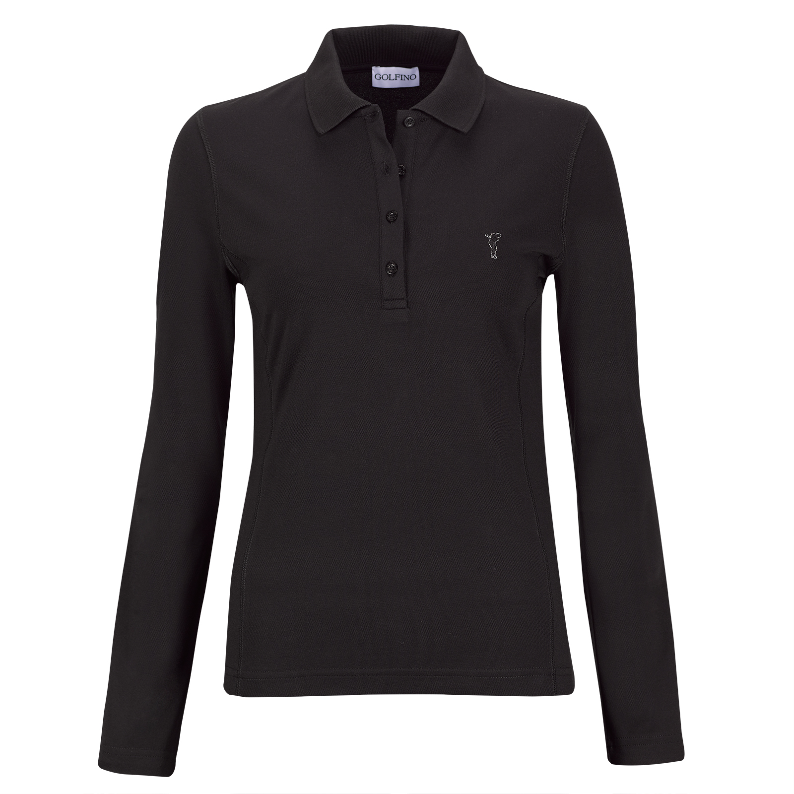 Sun Protection Lightweight Damen Langarm Golfpolo aus feinem Cotton Blend