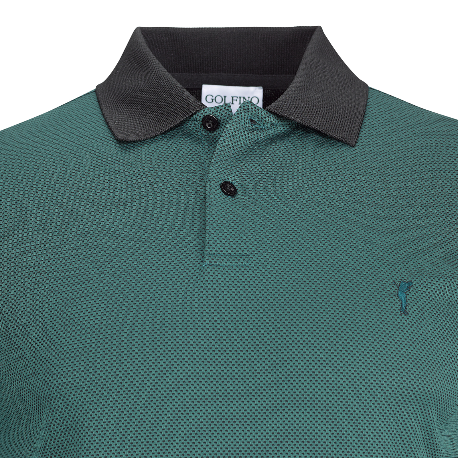 Techno Bubble Jacquard Herren Kurzarm Funktions-Golfpolo Quick Dry