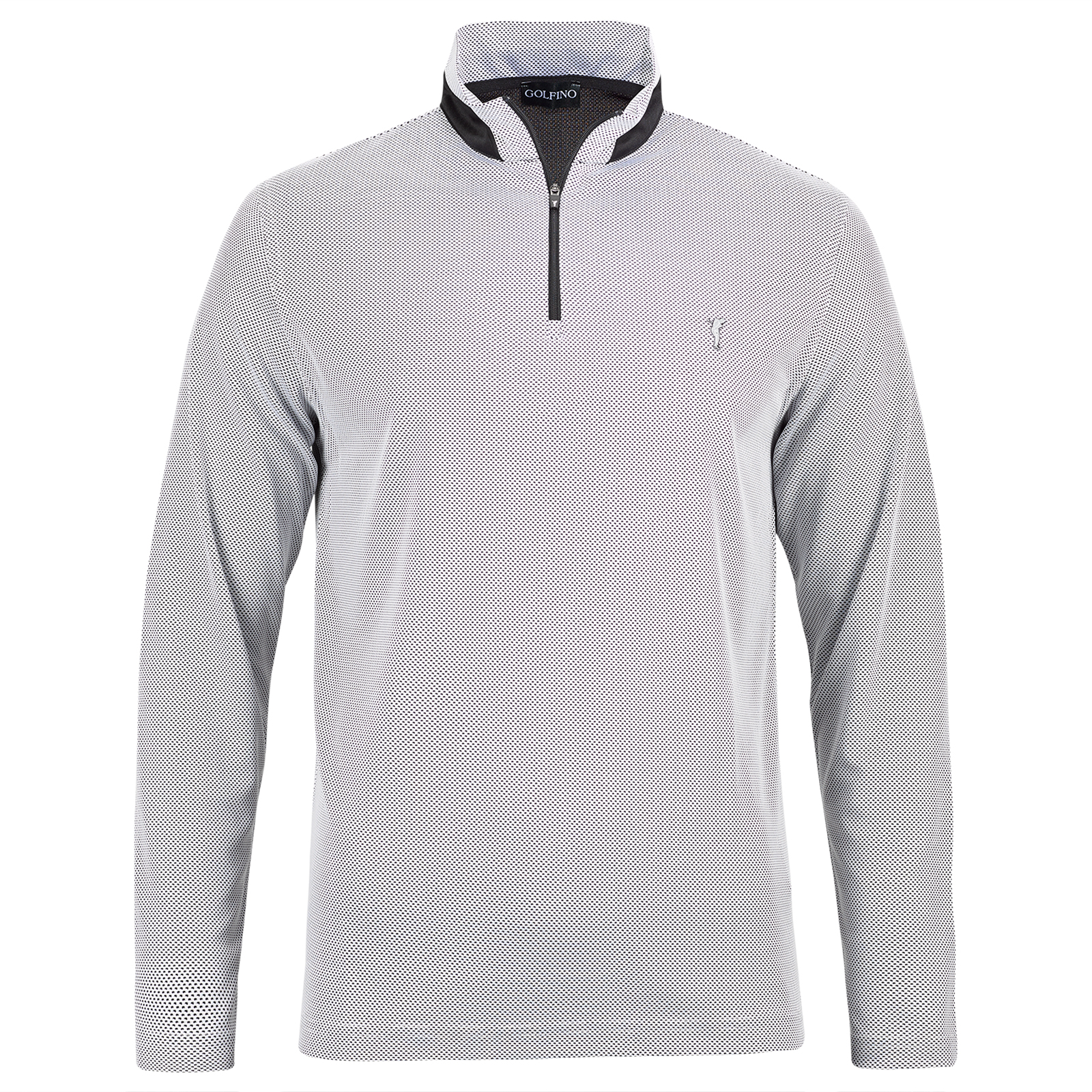 Bubble Jacquard Herren Langarm Funktions-Golftroyer Quick Dry