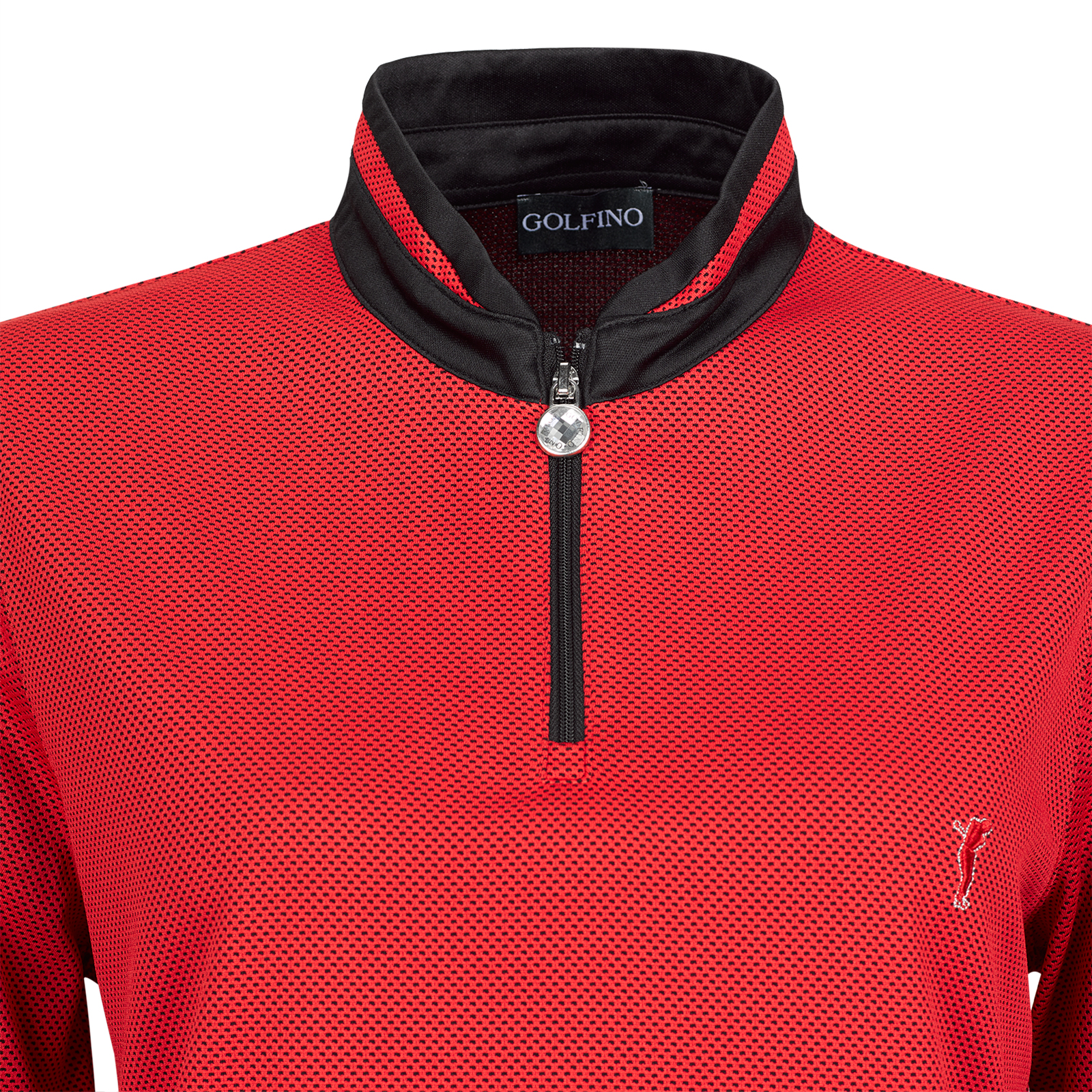 Bubble Jacquard Damen Langarm Funktions-Golfpolo Quick Dry