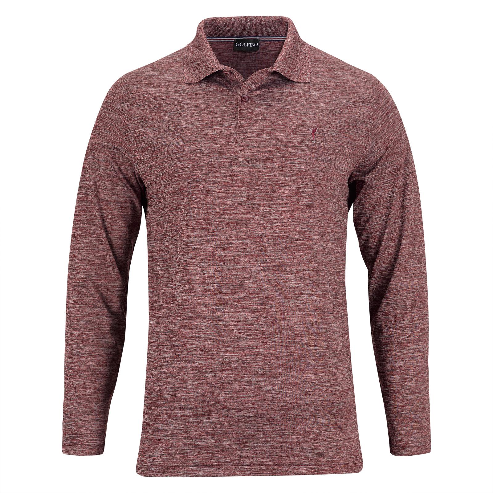 848d95c5ece827 GOLFINO Men's long-sleeve golf Resort Wear in regular fit shop online |  Golfino