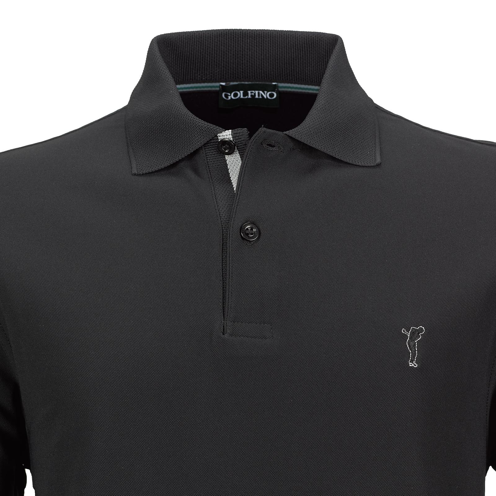 Regular Fit Herren Golfpolo mit Moisture Management Funktion