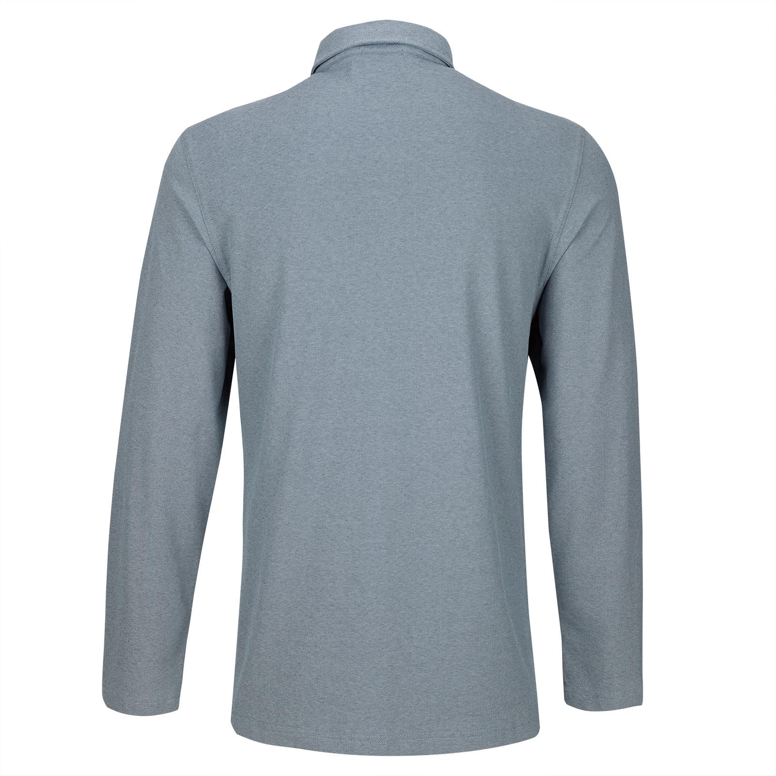 Langarm Button Down Herren Golfpolo mit Sun Protection in Regular Fit