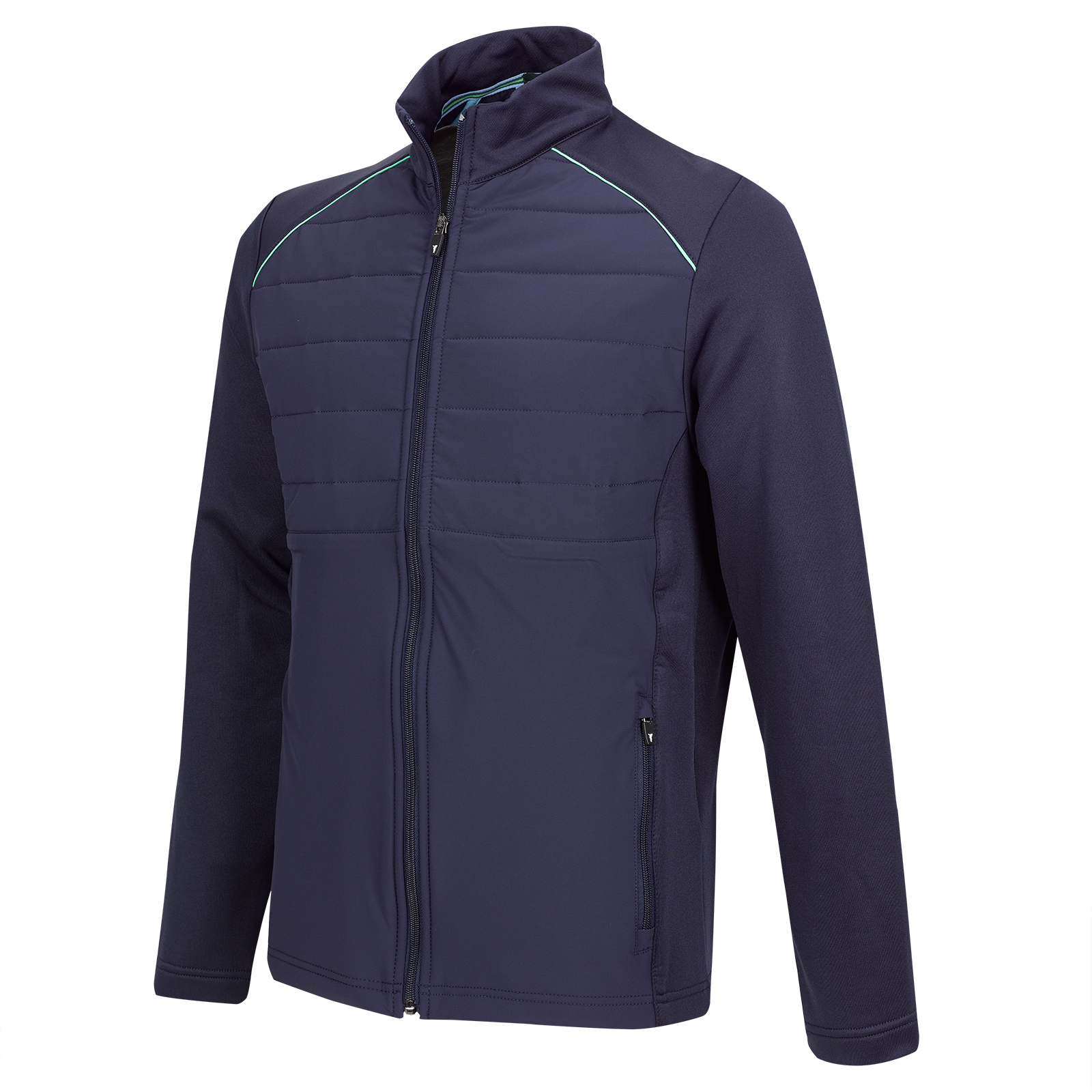 Gesteppte Performance Herren Stretch-Golfjacke Cold Protection