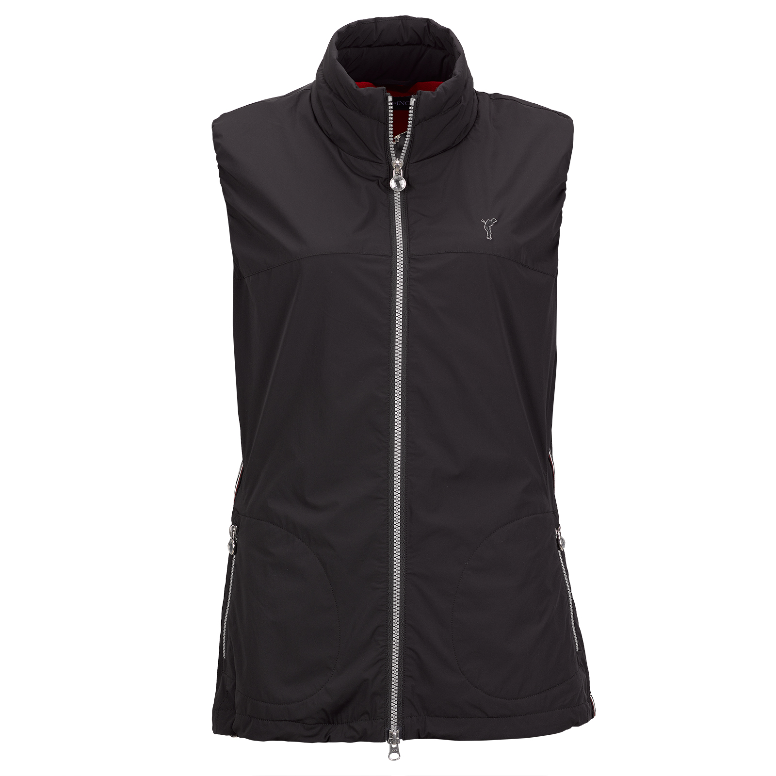 Ladies' premium golf vest with Wind Protection function