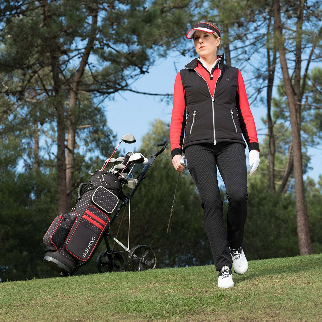 Ladies' premium golf vest with Wind Protection function