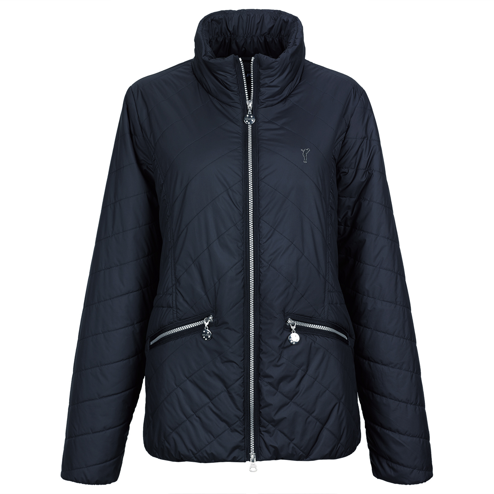 Breathable ladies' padded functional jacket with Wind Protection