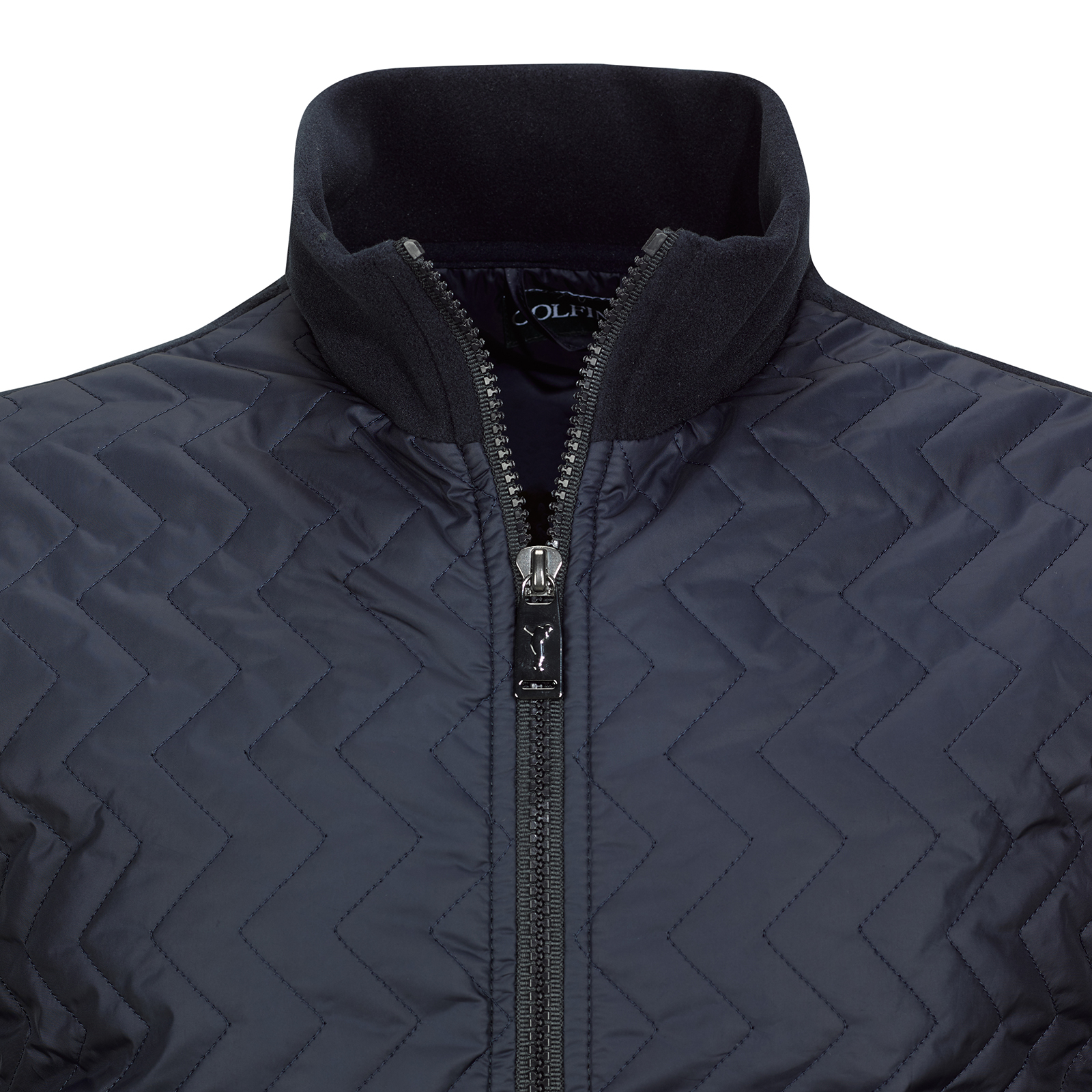 Herren Fleece Golfjacke Cold Protection mit Steppelementen aus Microfaser