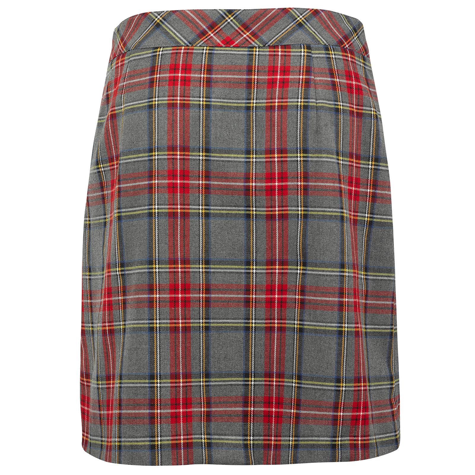 Langer Damen Karo-Golfskort aus softem Stretchmaterial mit innenliegenden Shorts
