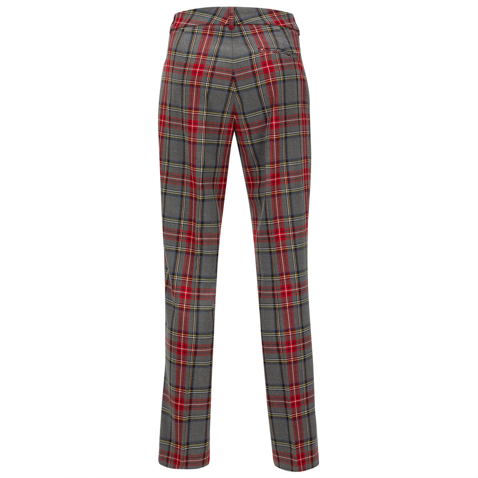 Ladies' checked golf trousers in modern 7/8 length from light stretch material in regular fit