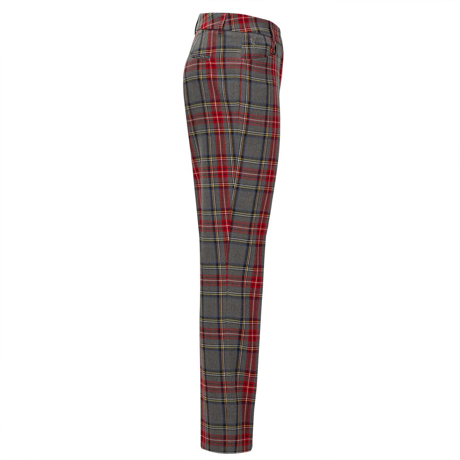 Damen Karo-Golfhose in moderner 7/8 Länge aus weichem Stretch in Regular Fit