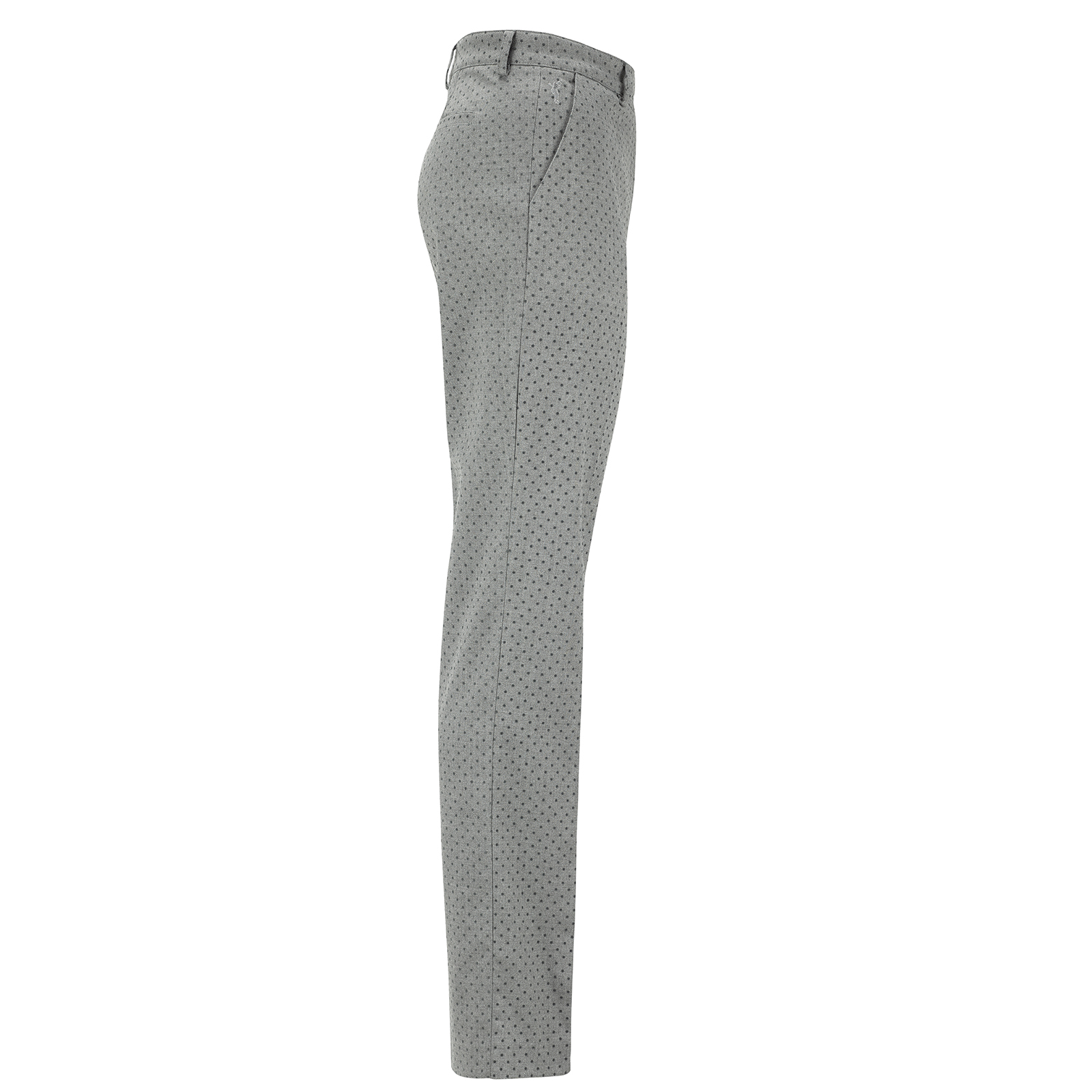 Damen 7/8 Slim-Fit Stretch-Golfhose mit gepunktetem Design