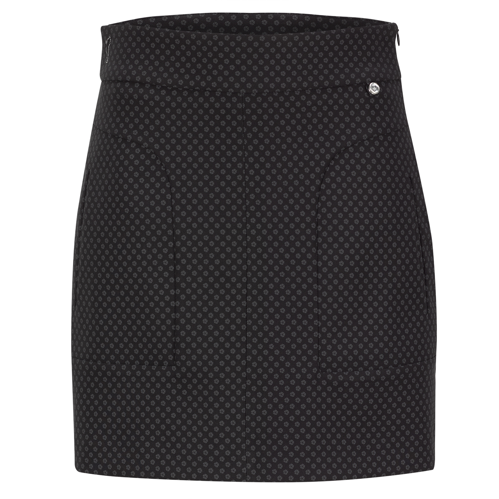 Modischer Damen Print-Golfskort aus 4-Way-Stretch in kurzer Passform