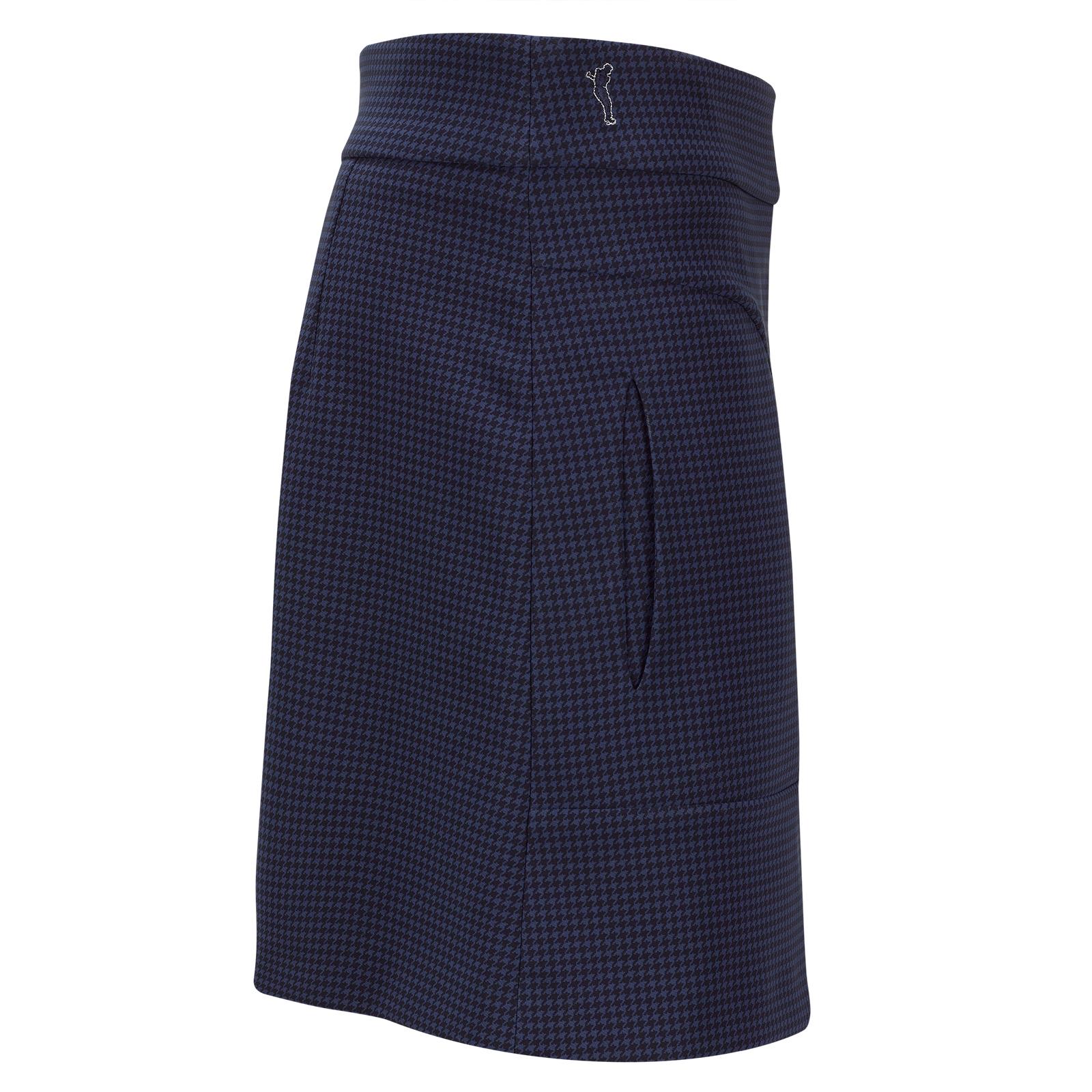 Slim Fit Damen Golfskort aus 4-Way-Stretch Funktionsmaterial mit Print