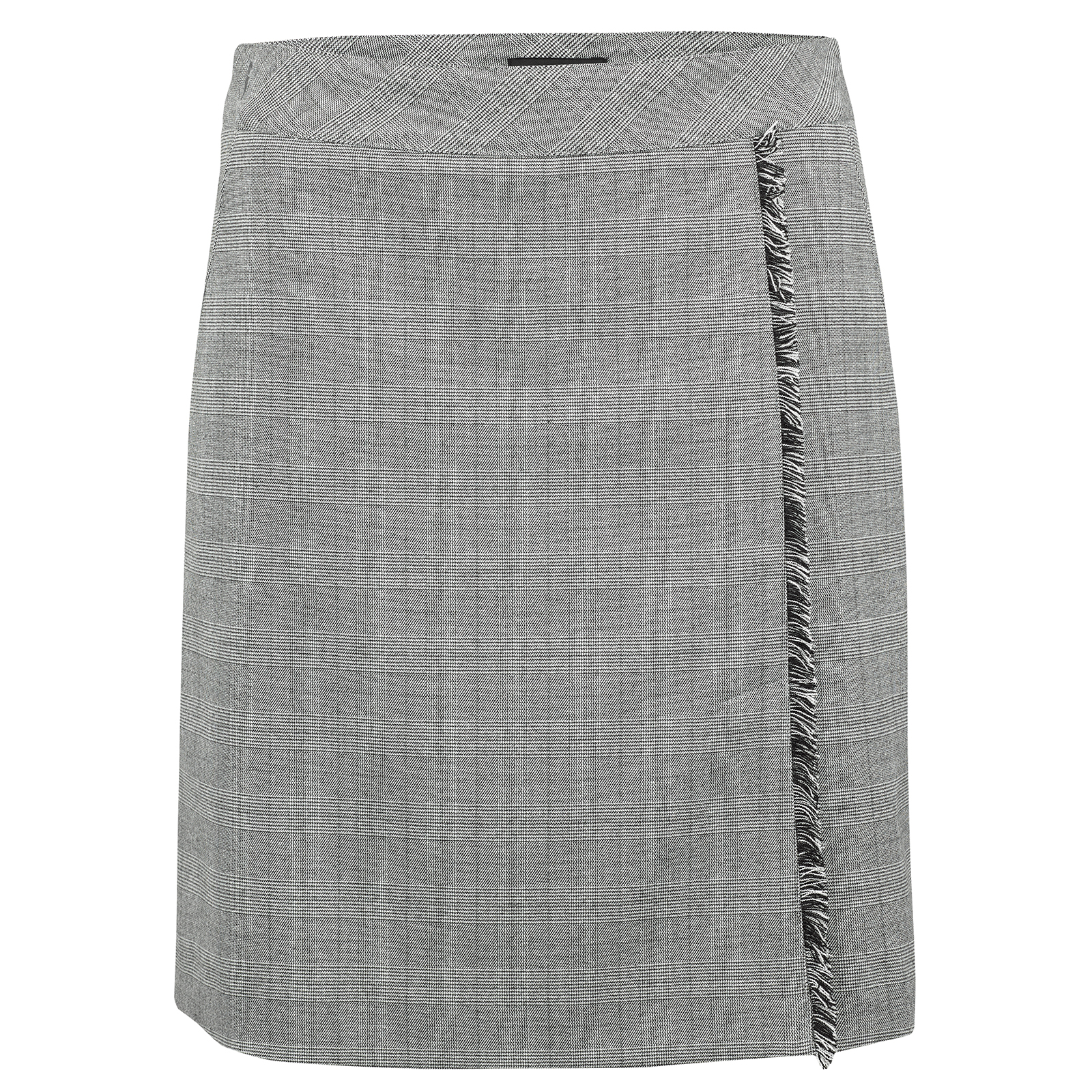 Ladies' golf skort from elegant stretch material with integrated shorts