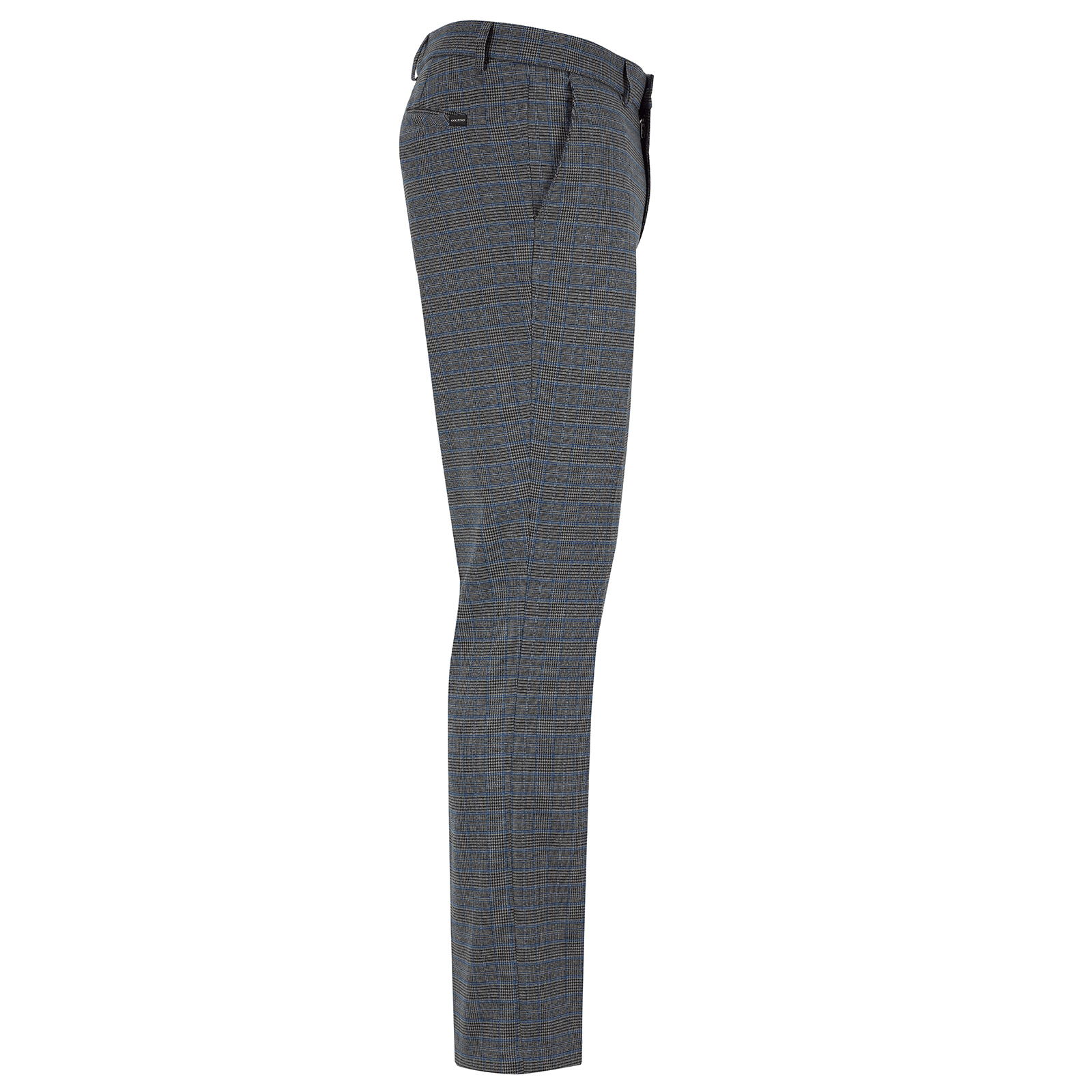 Designer Herren Golf Karohose in Slim Fit