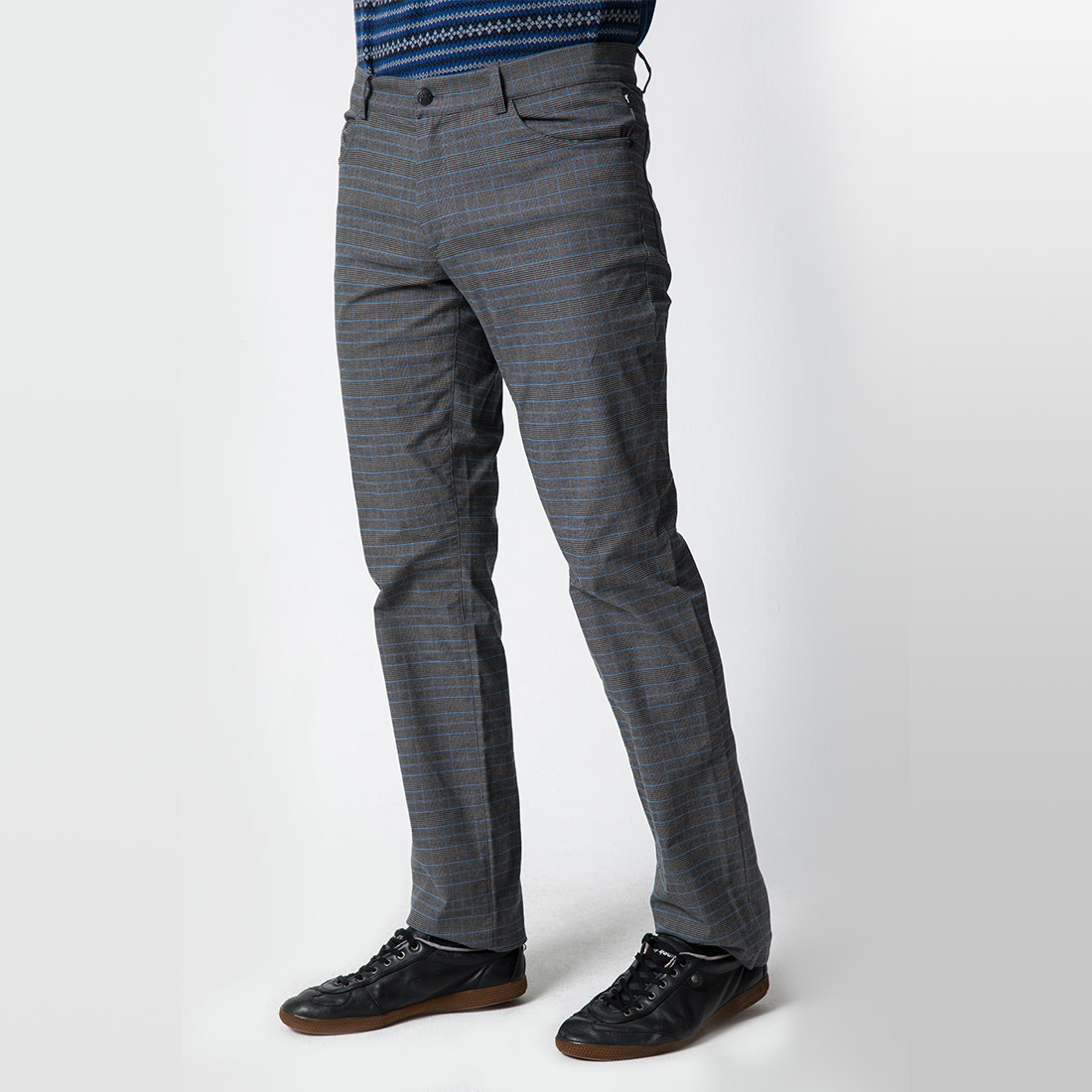 Designer Herren Golf Karohose in Slim Fit